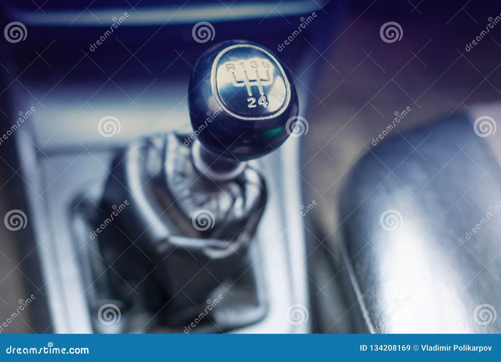 Botão da engrenagem no carro