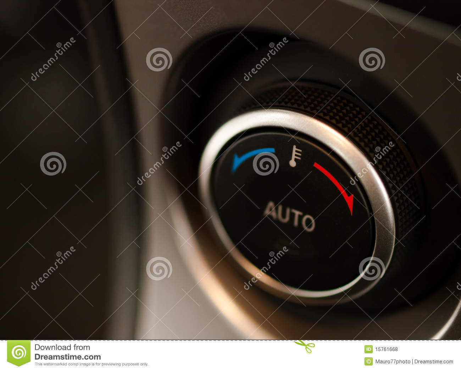 Botão da temperatura do carro