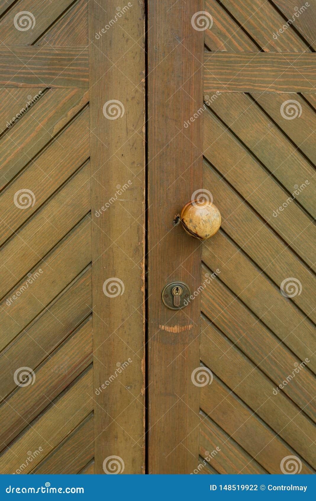 Botão de porta velho redondo