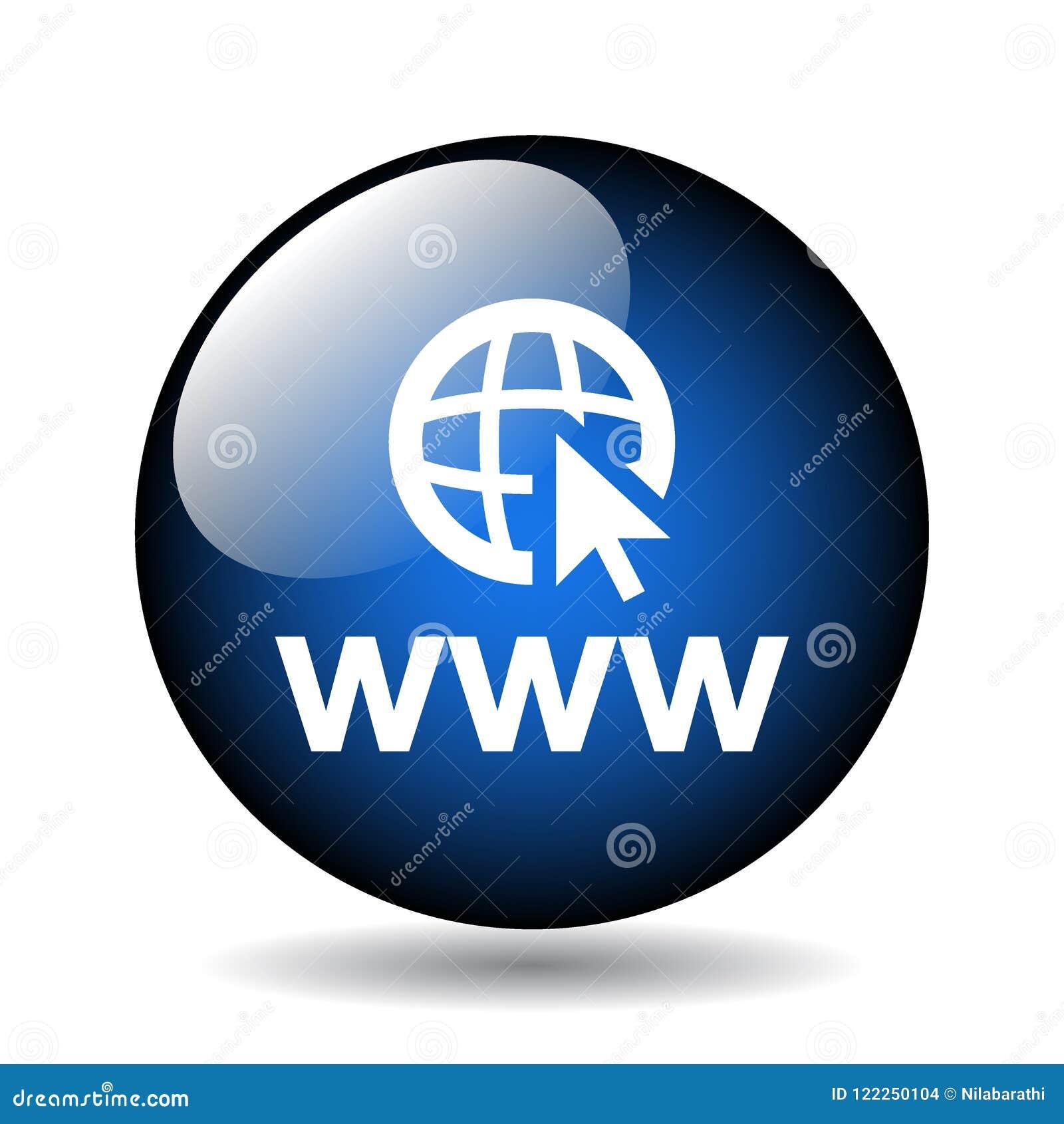 Botão do ícone do web browser