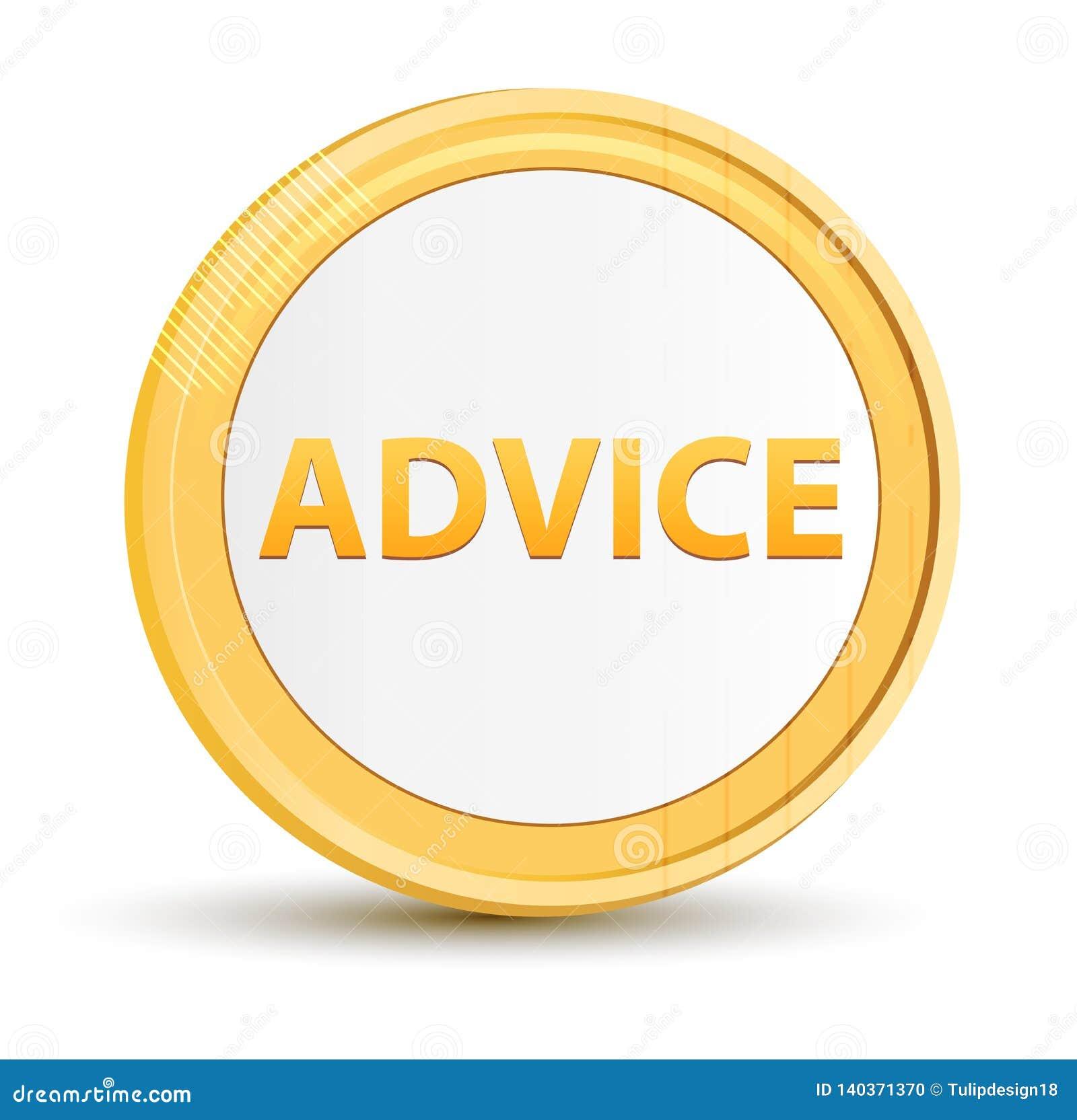 Botão do círculo do ouro do conselho
