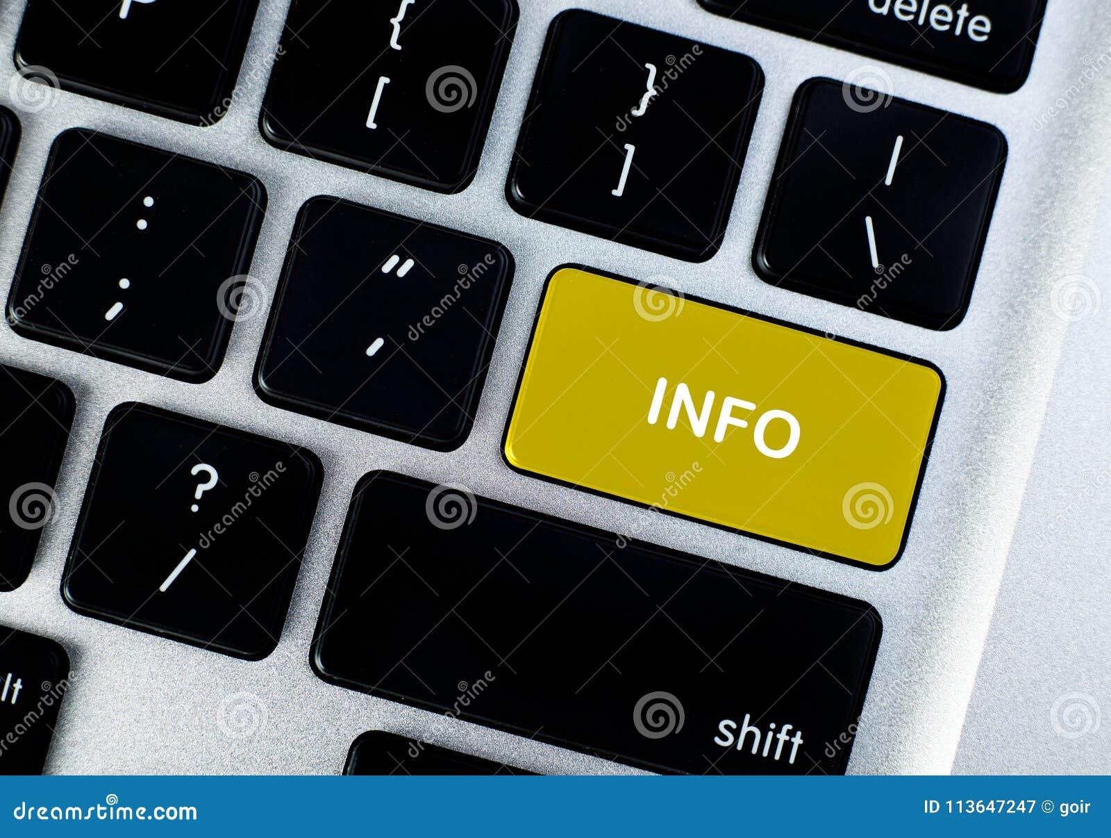 Botão do conceito da informação