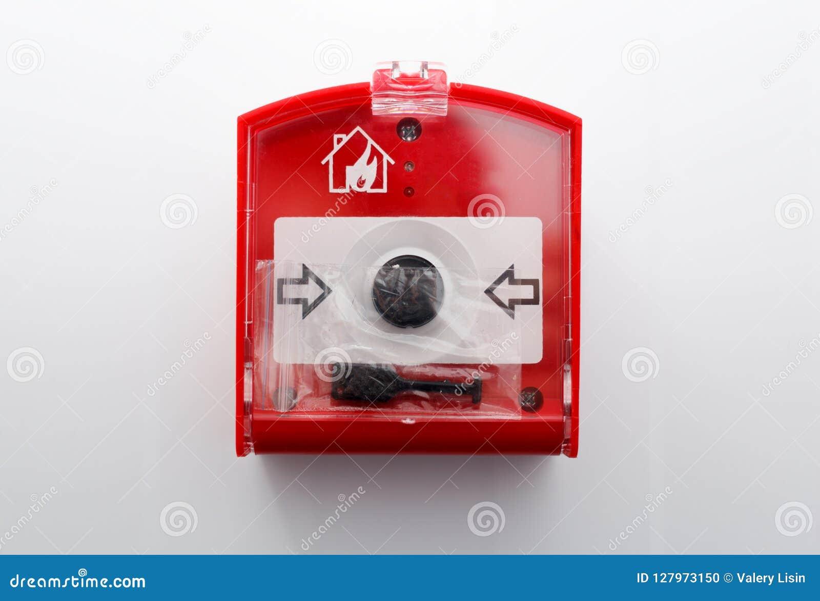 Botão do perigo de fogo