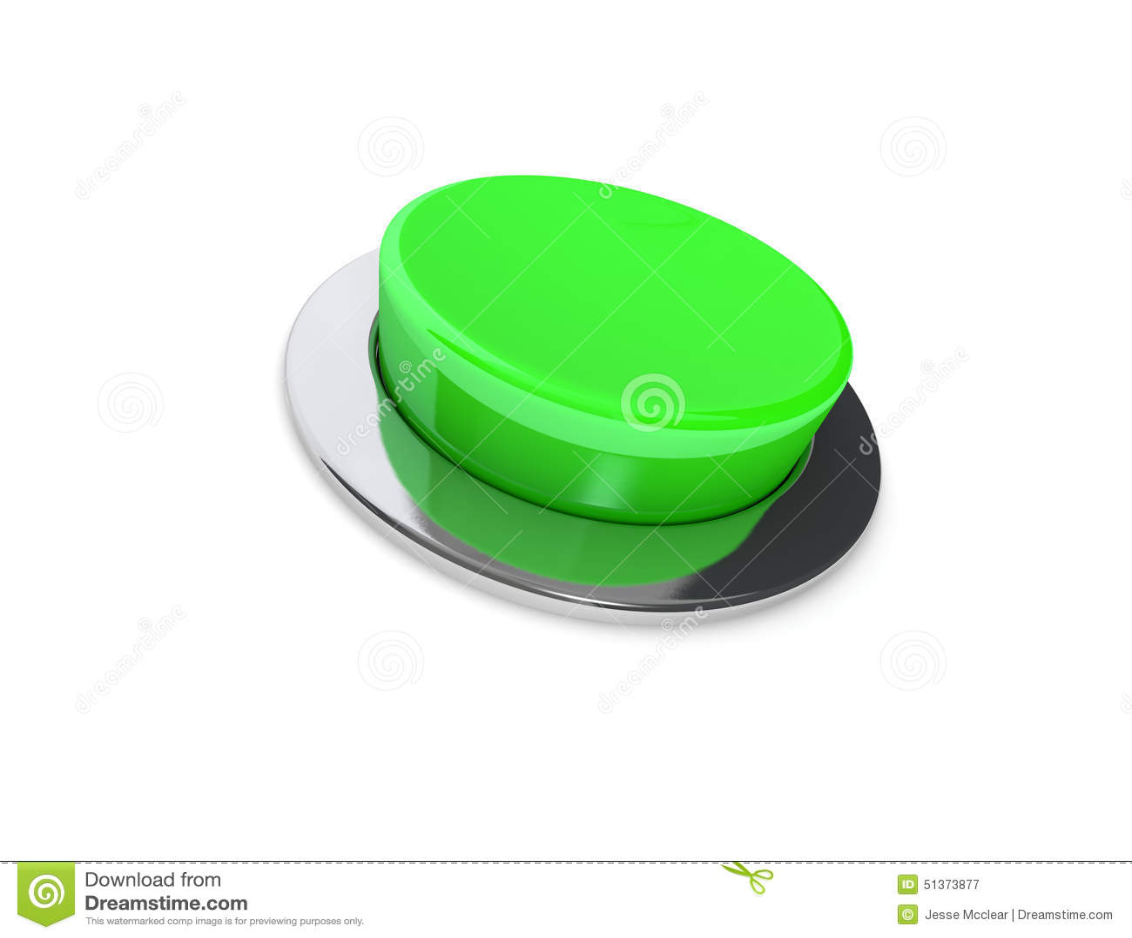 Botão do verde 3D
