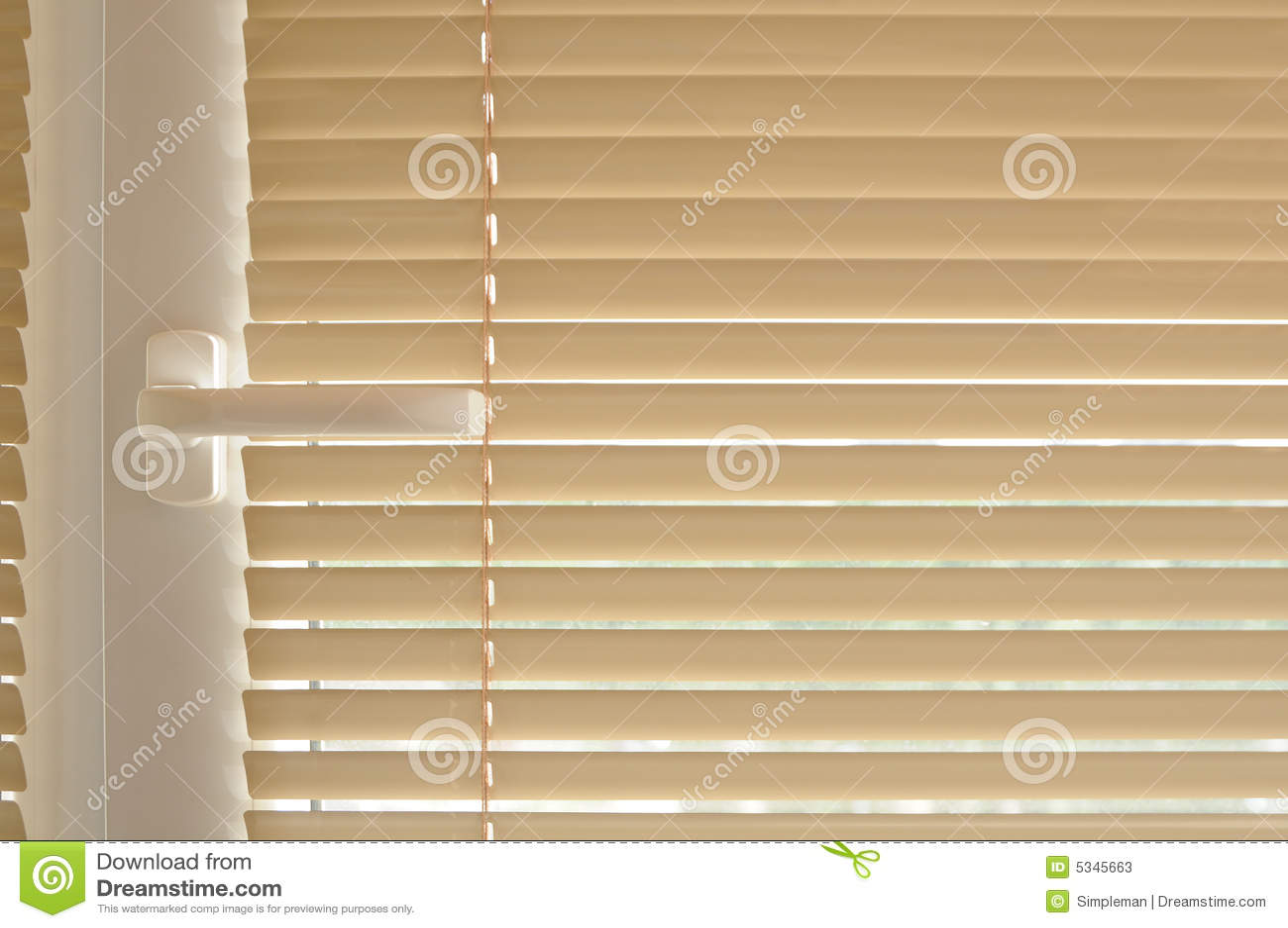 Botão e cortina do indicador