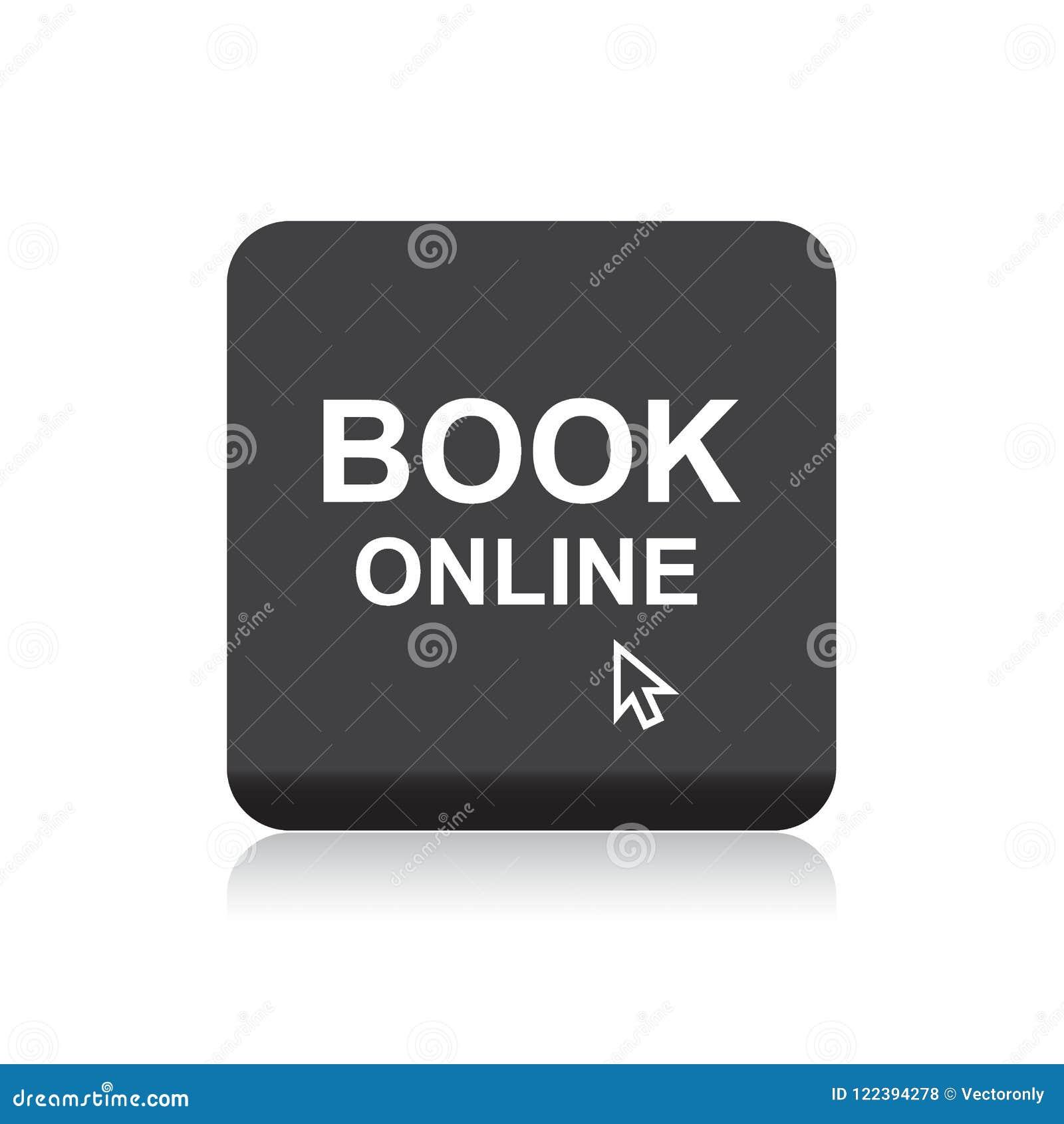 Botão em linha da Web do livro