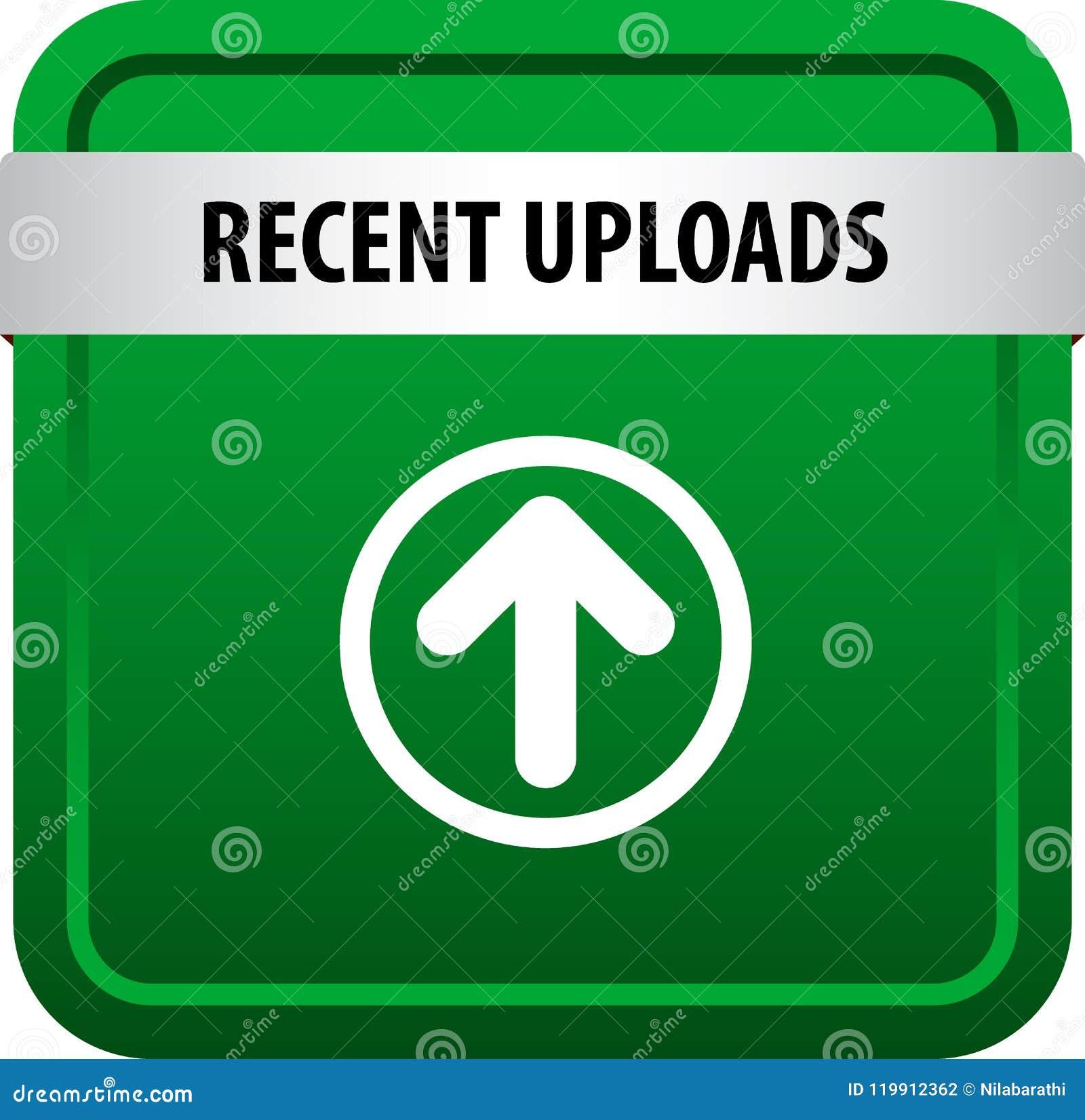 Botão recente da Web das transferências de arquivo pela rede