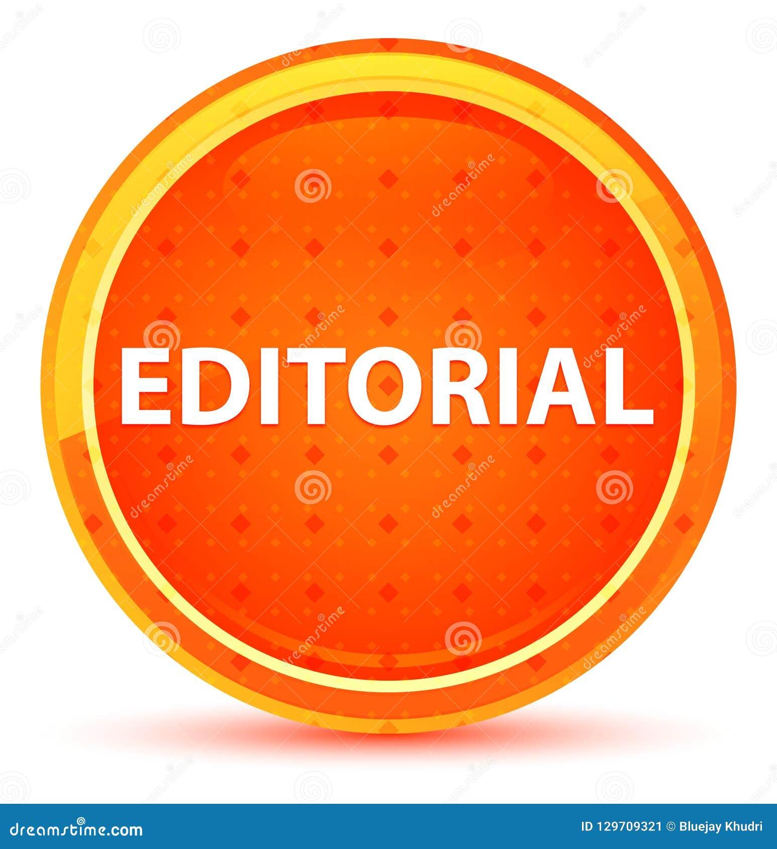 Botão redondo alaranjado natural editorial