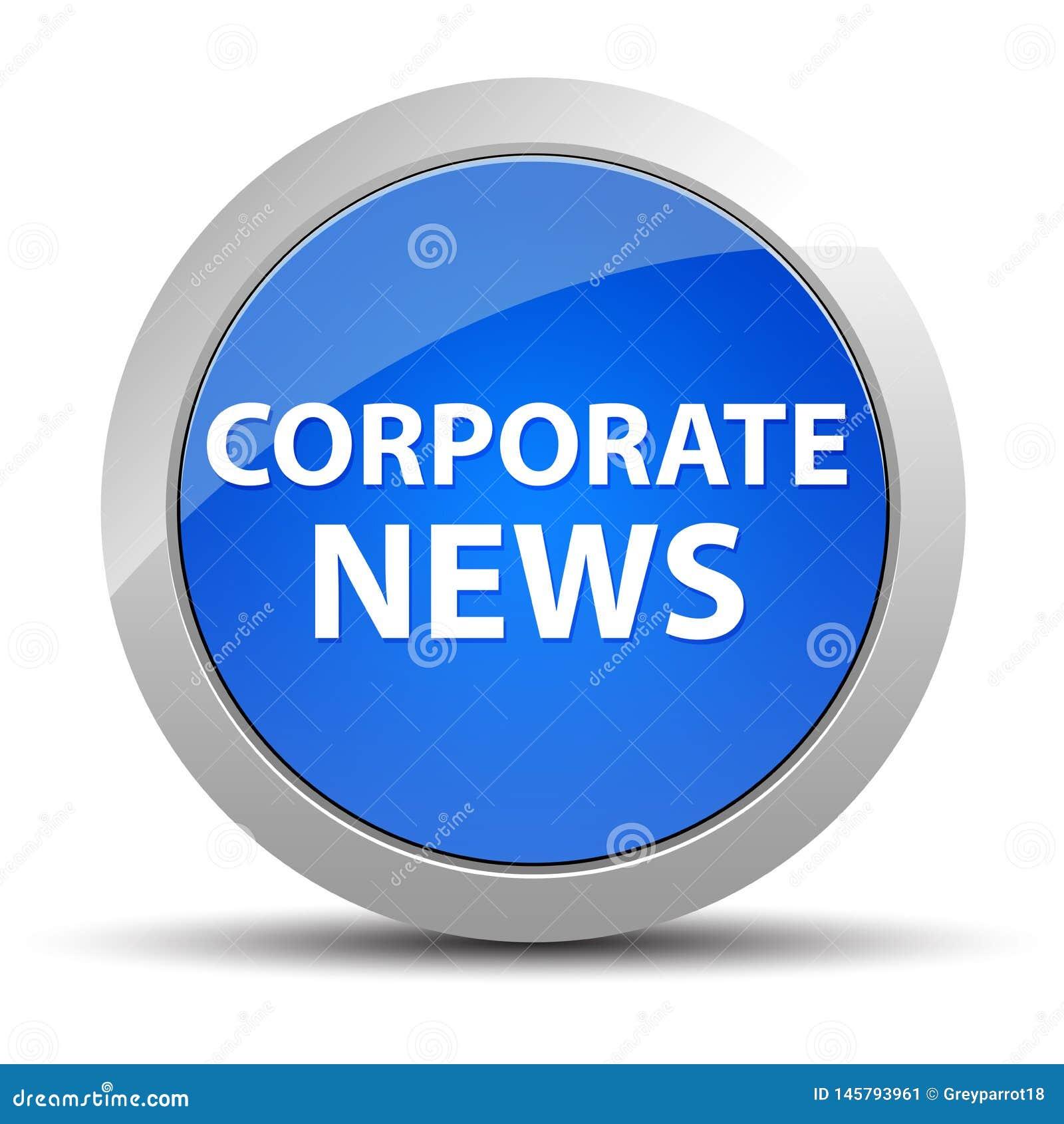 Botão redondo azul da notícia incorporada