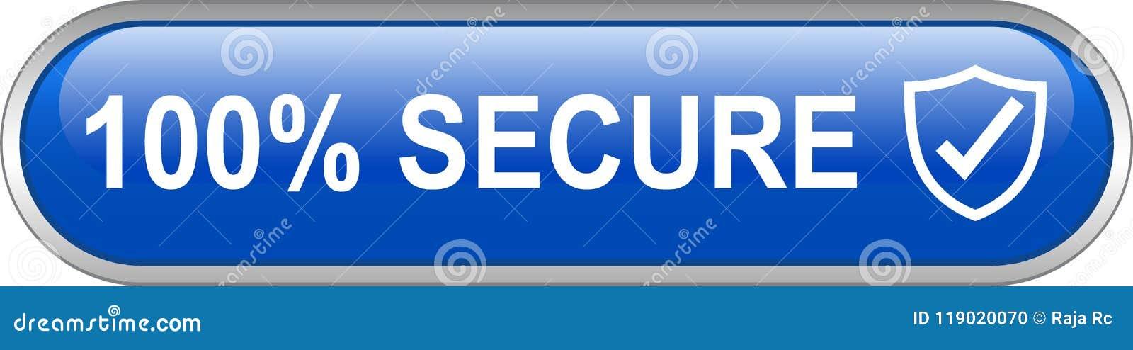 Botão seguro da Web 100
