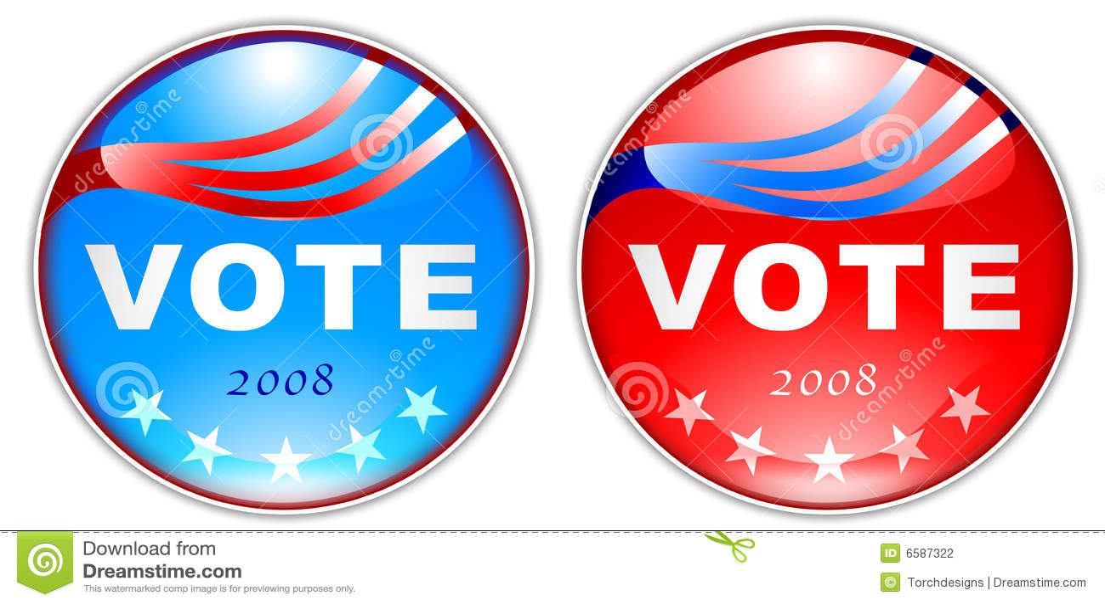 Botón 2008 del voto
