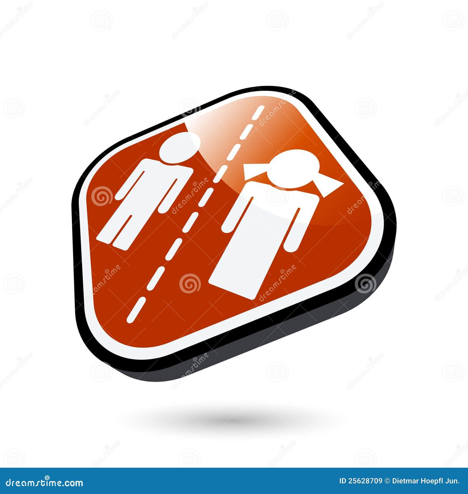 Botón abstracto del divorcio