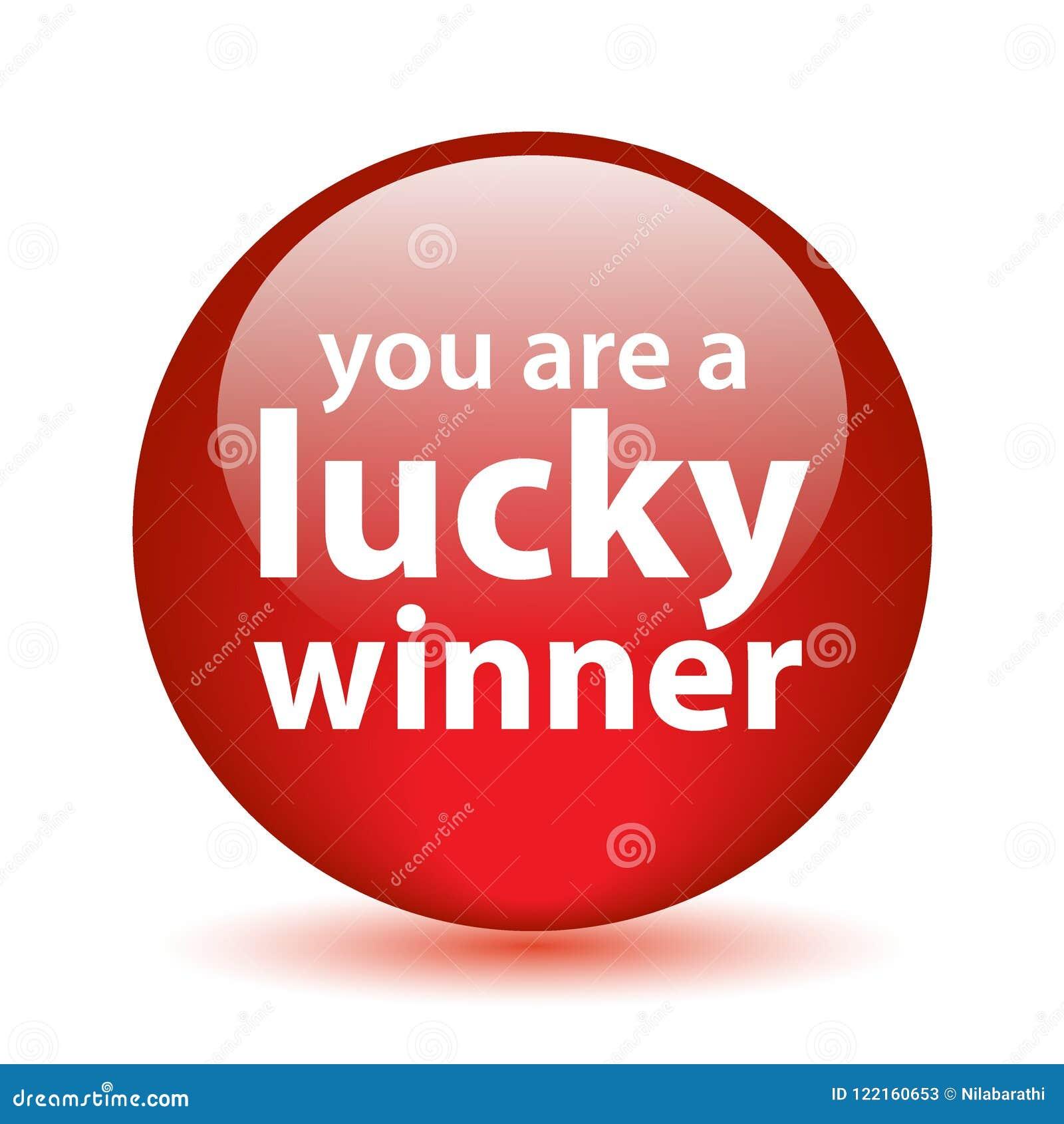 Botón afortunado del ganador