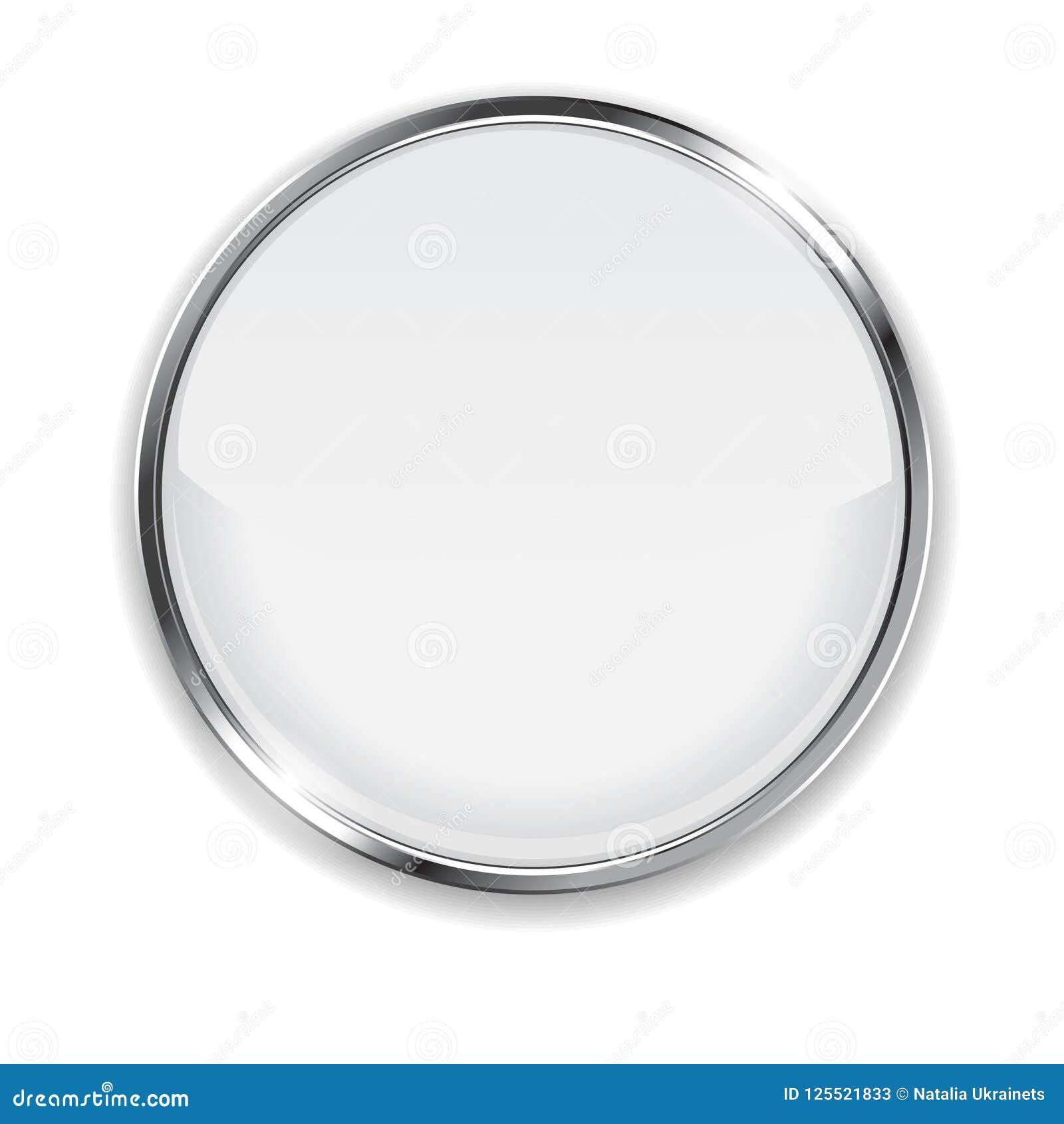 Botón blanco 3d