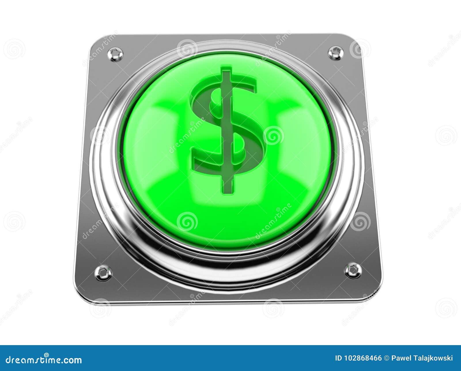 Botón con símbolo del dólar