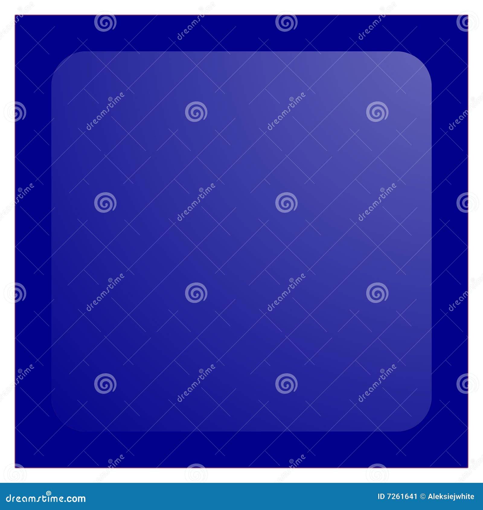Botón cuadrado azul marino del aqua