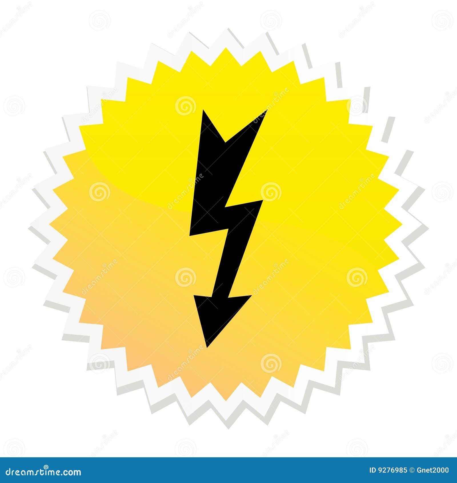 Botón de alto voltaje del Web