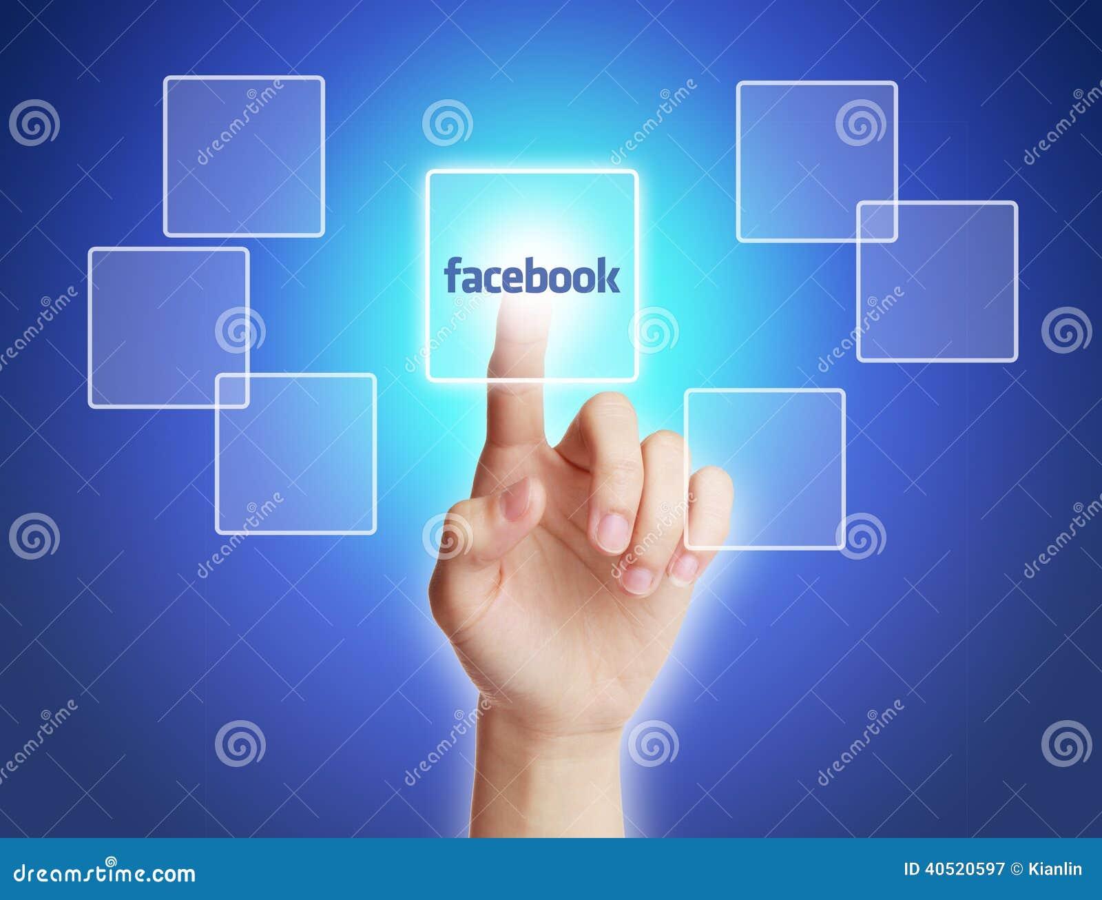 Botón de Facebook del tacto