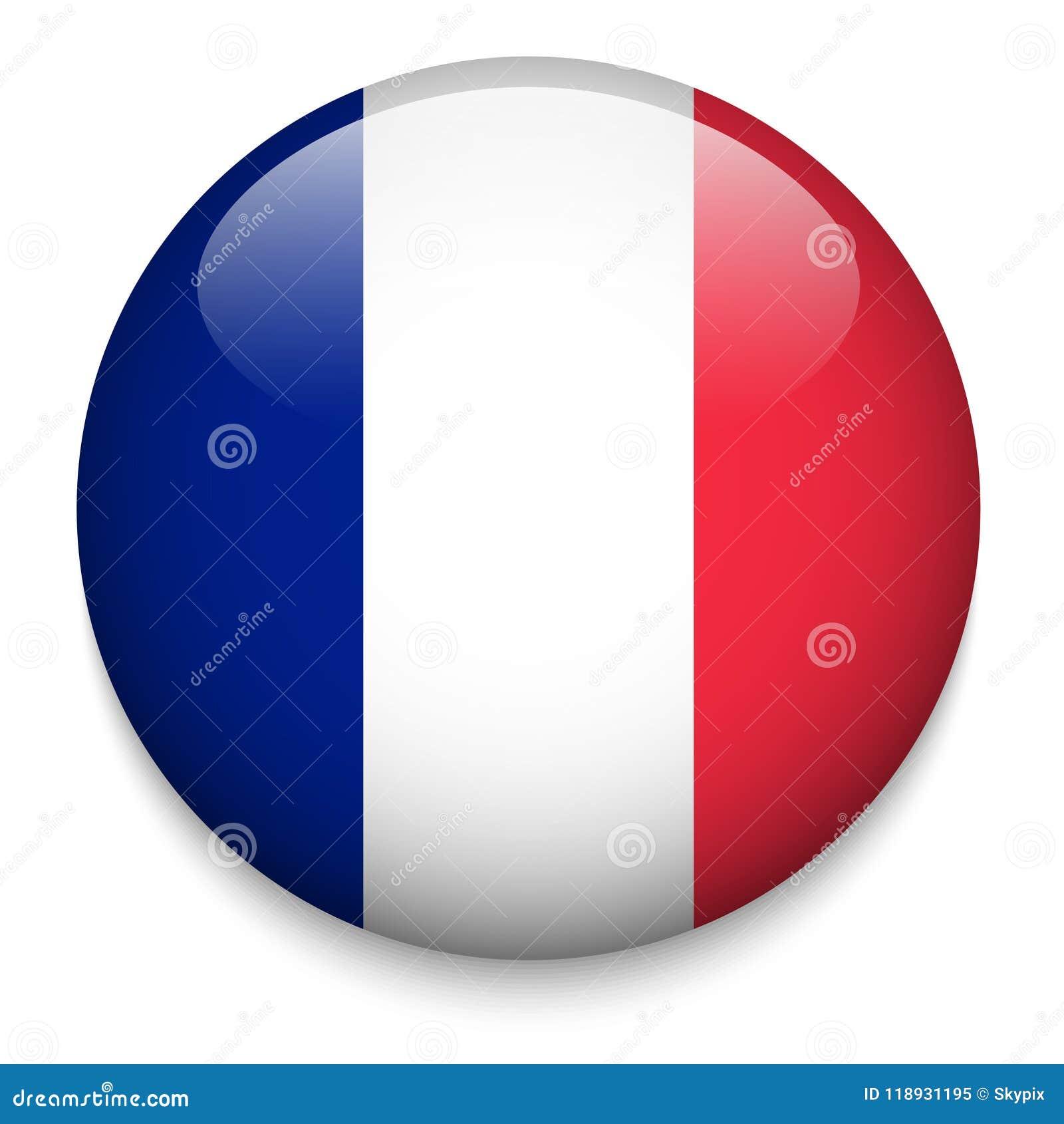 Botón de la bandera de FRANCIA