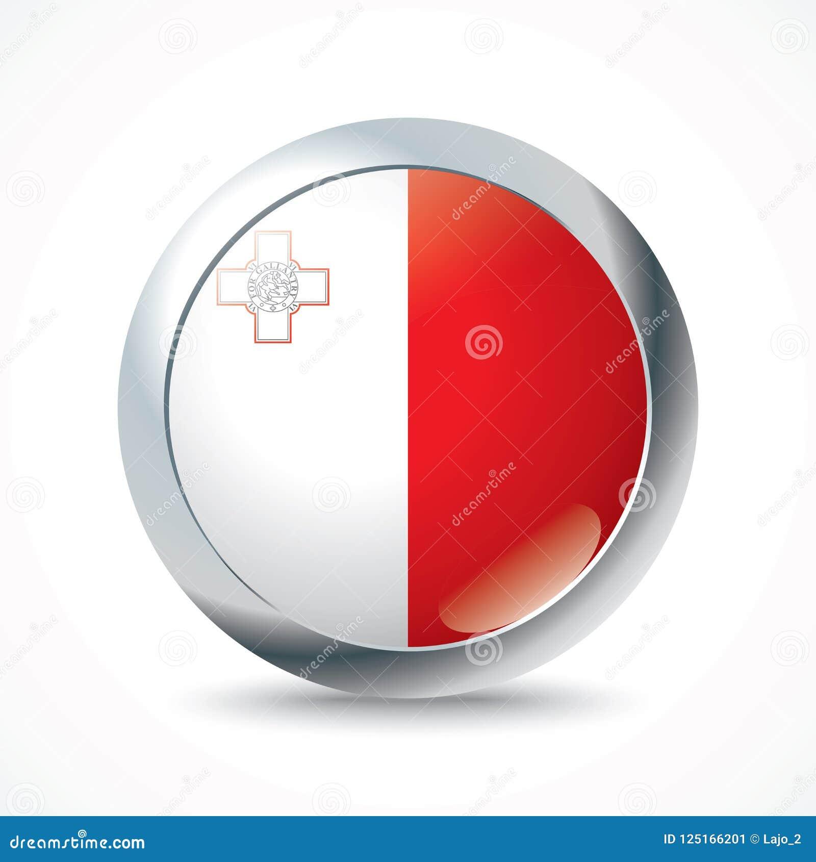Botón de la bandera de Malta