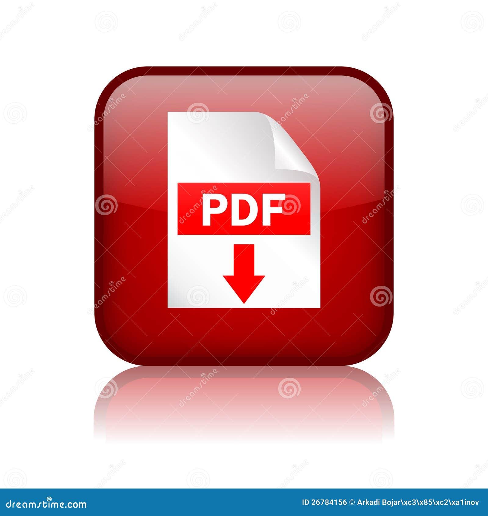 Botón de la transferencia directa del pdf