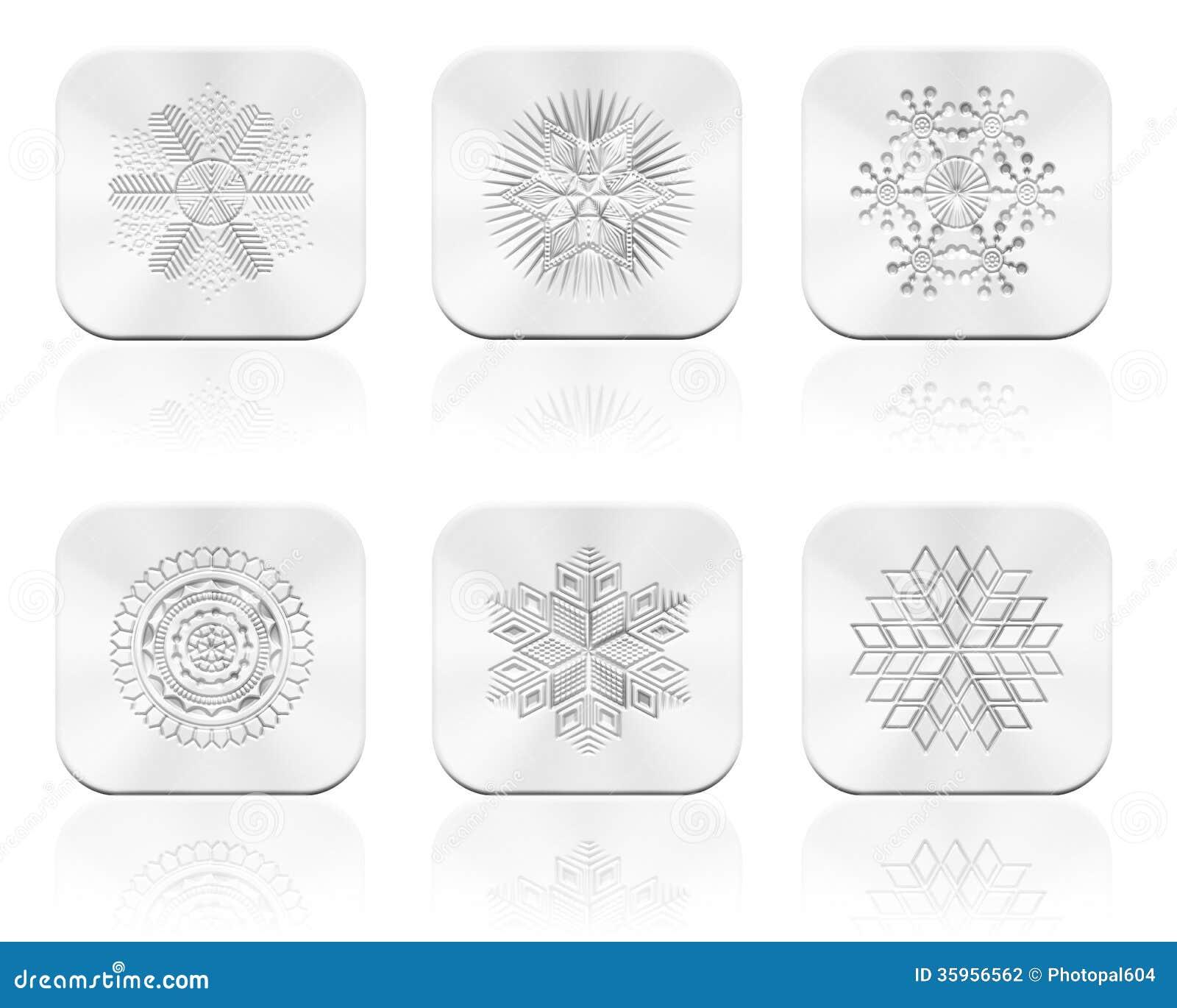 Botón de los copos de nieve