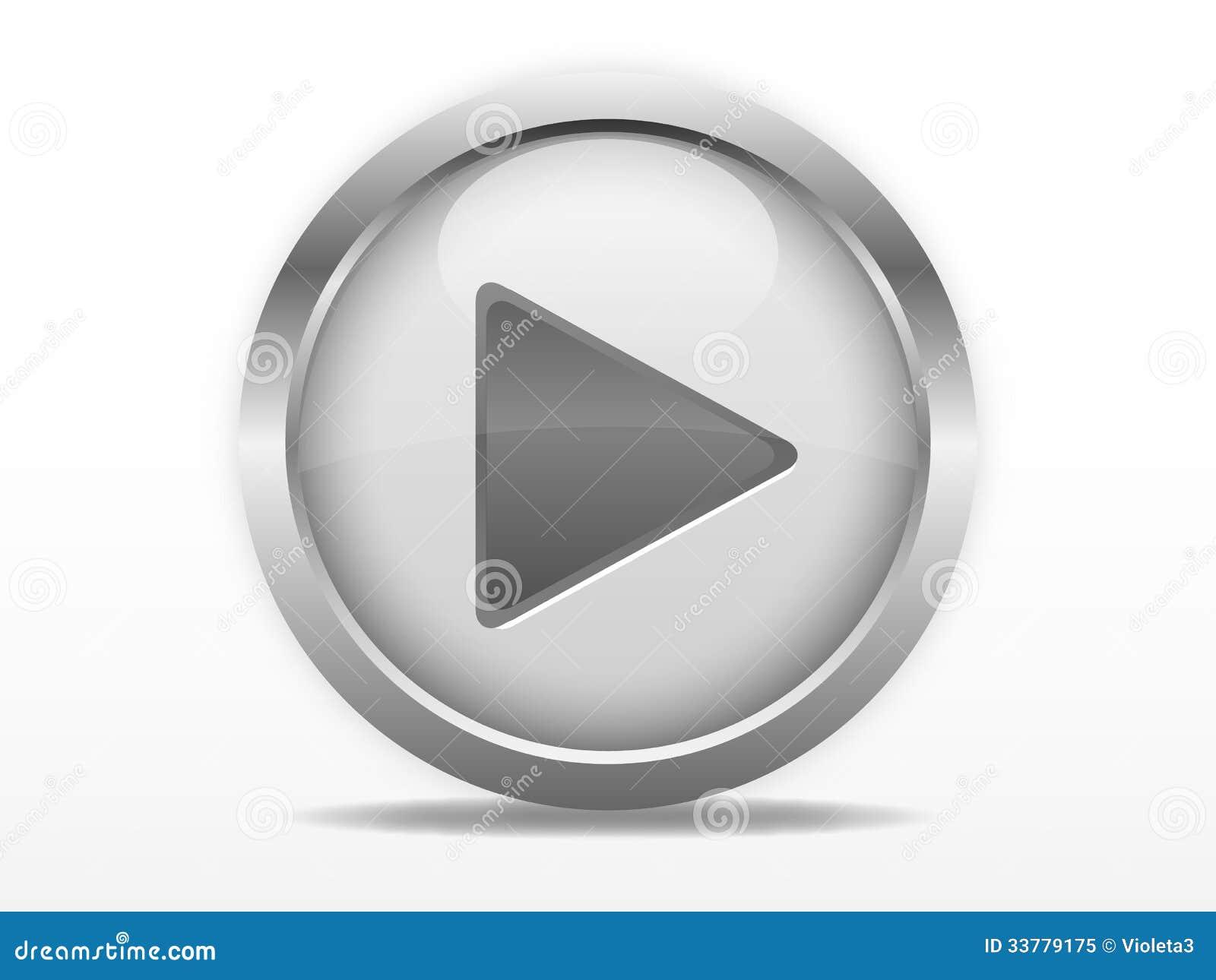 Botón de reproducción gris