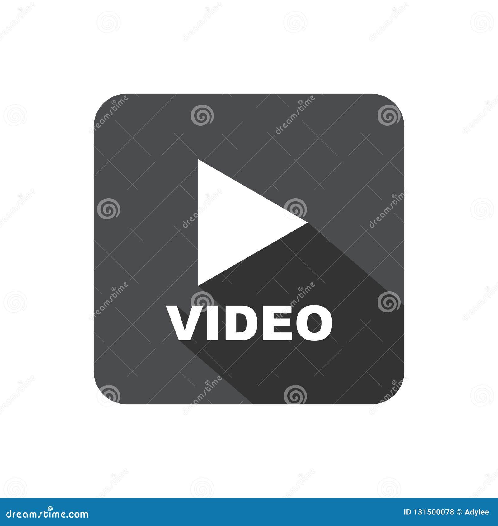 Botón de reproducción video con la sombra