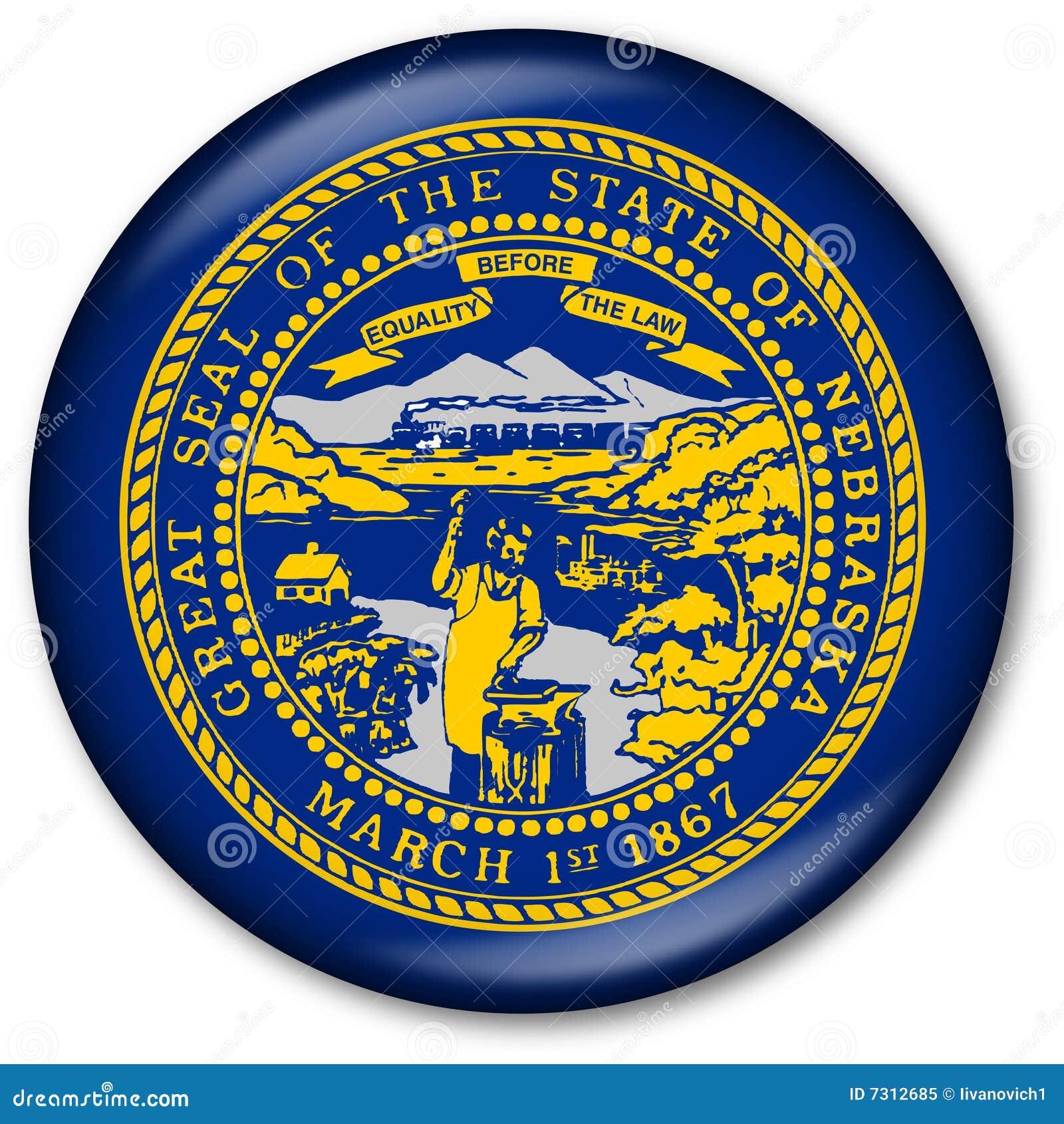 Botón del indicador del estado de Nebraska