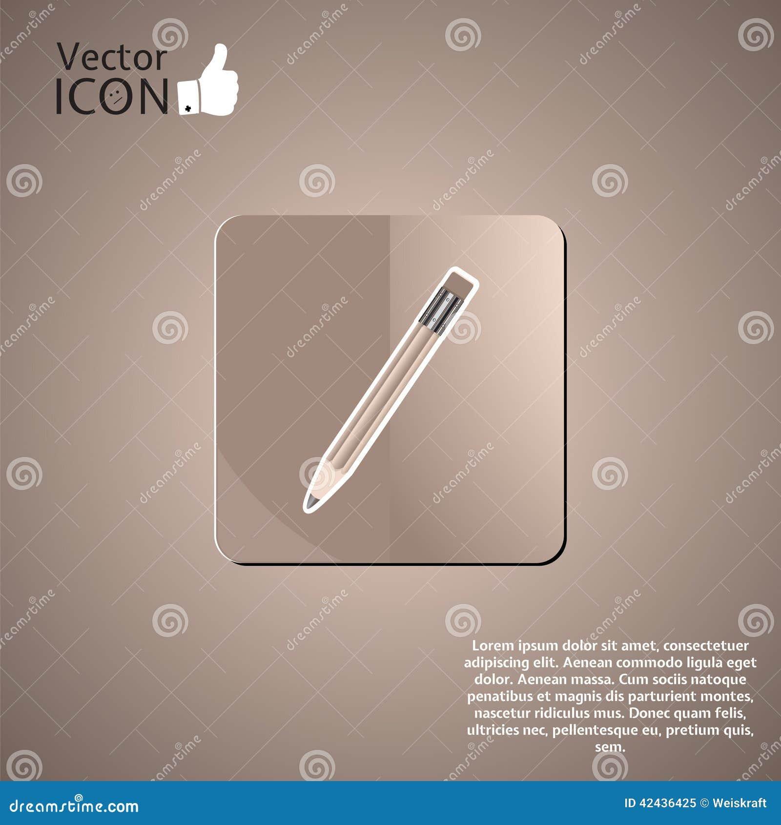 Botón del lápiz en el fondo