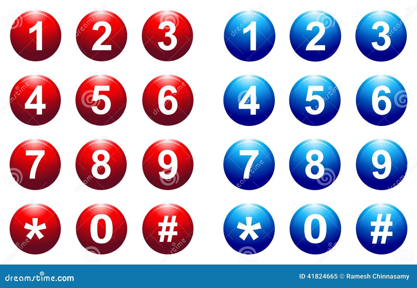 Botón del número