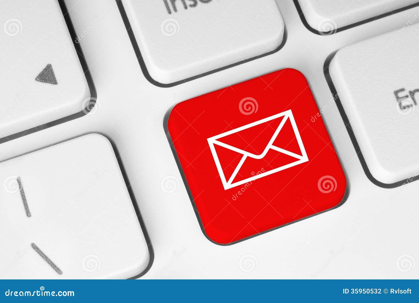Botón del teclado del correo