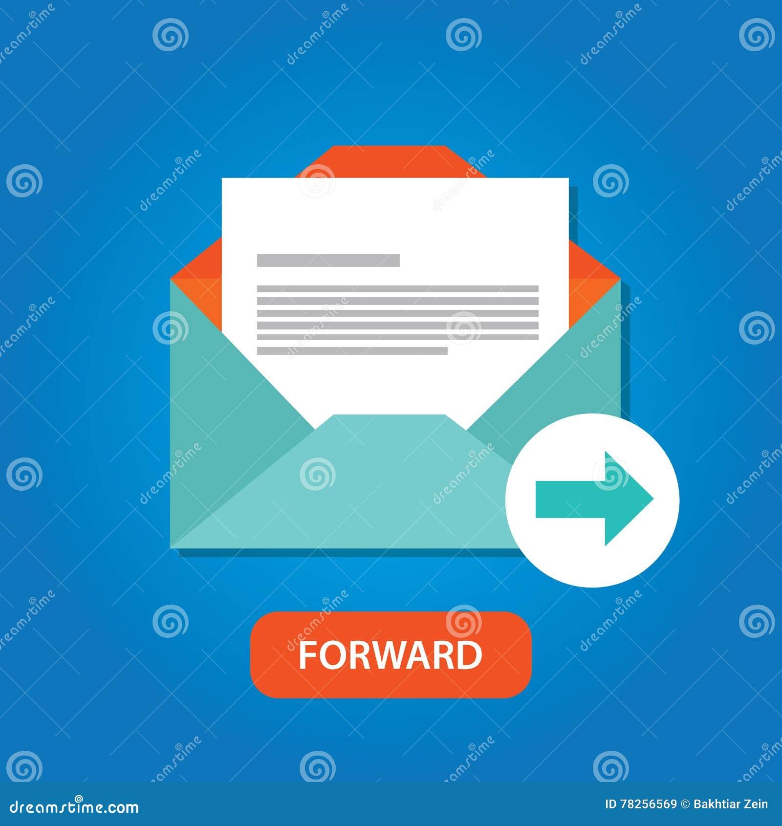 Botón delantero auto automático del icono de la respuesta del correo electrónico
