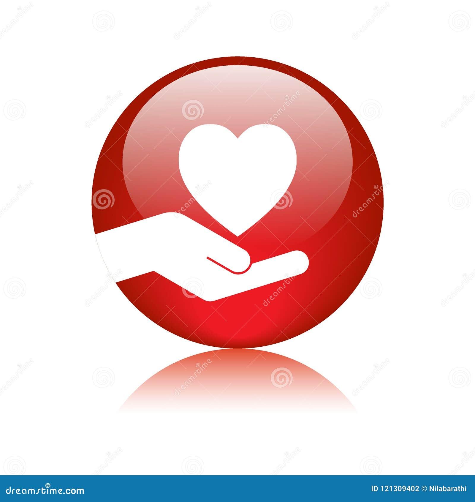 Botón disponible del icono del corazón