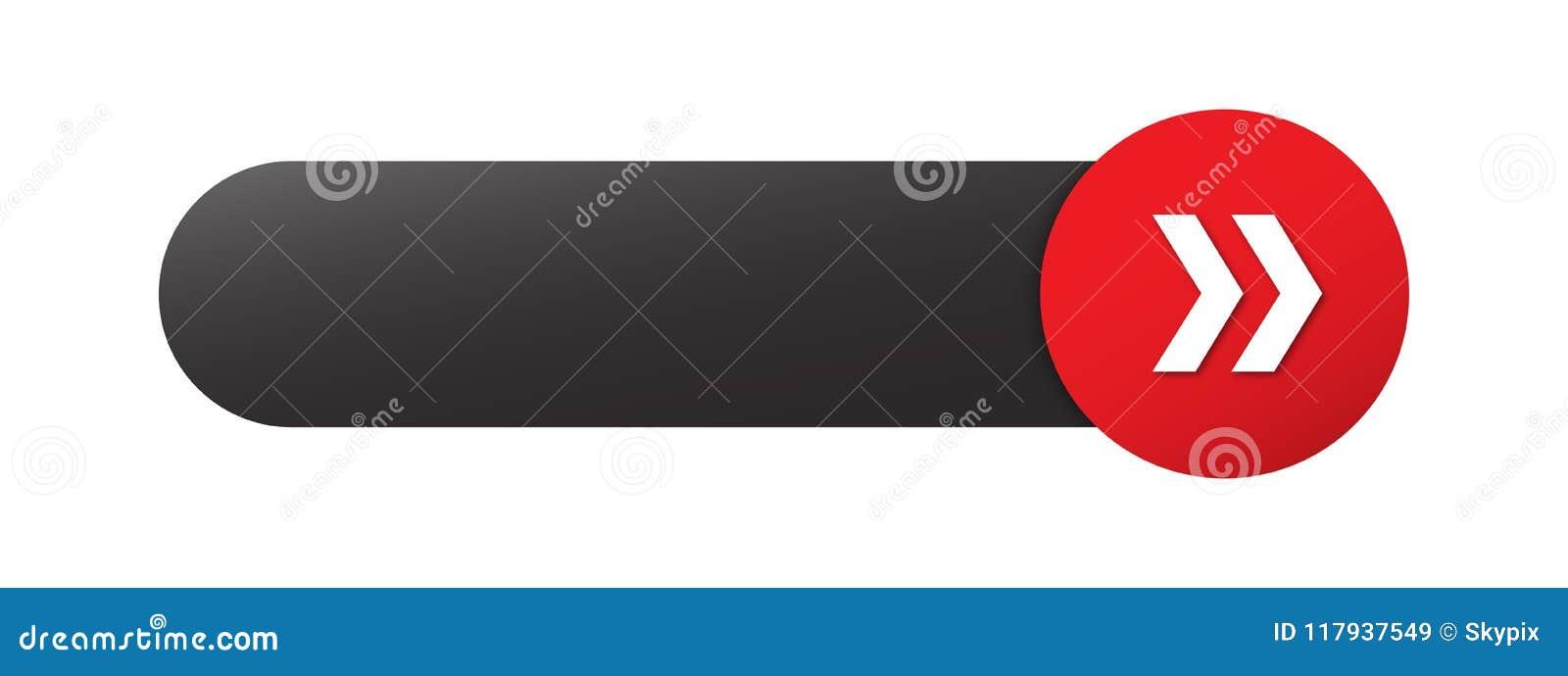 Botón EN BLANCO del web con las flechas