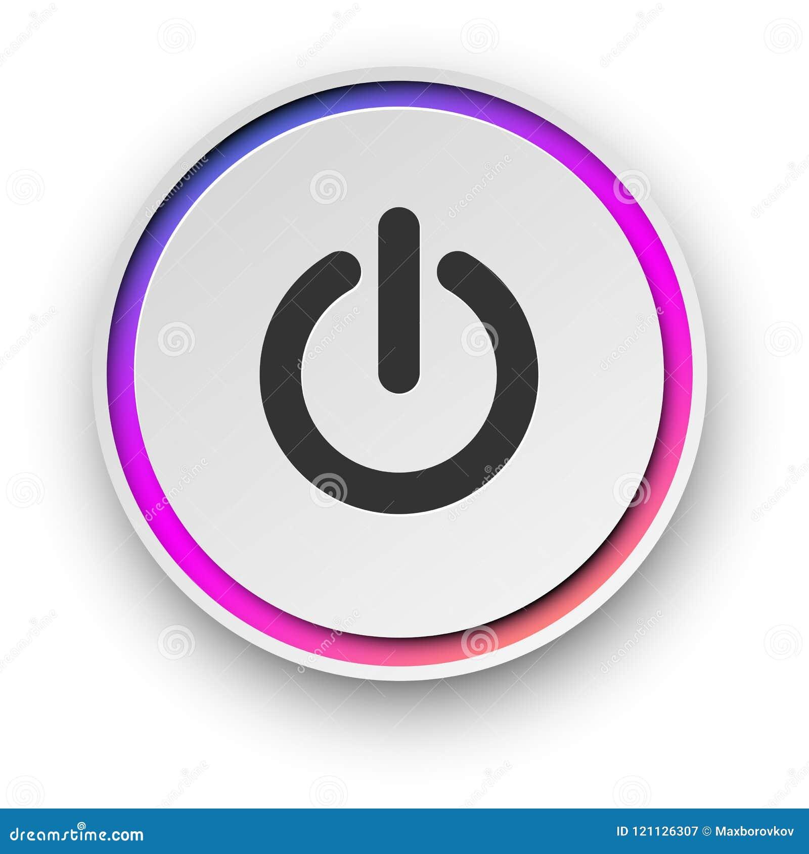 Botón encendido-apagado de la vuelta redonda del espectro