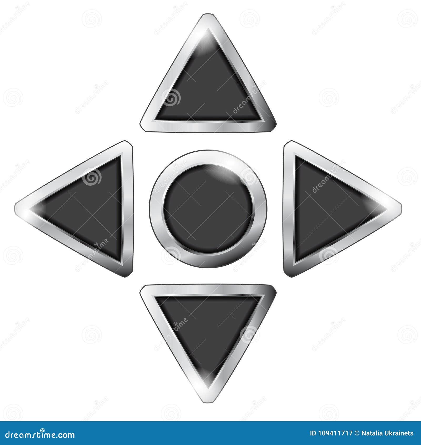 Botón negro del juego