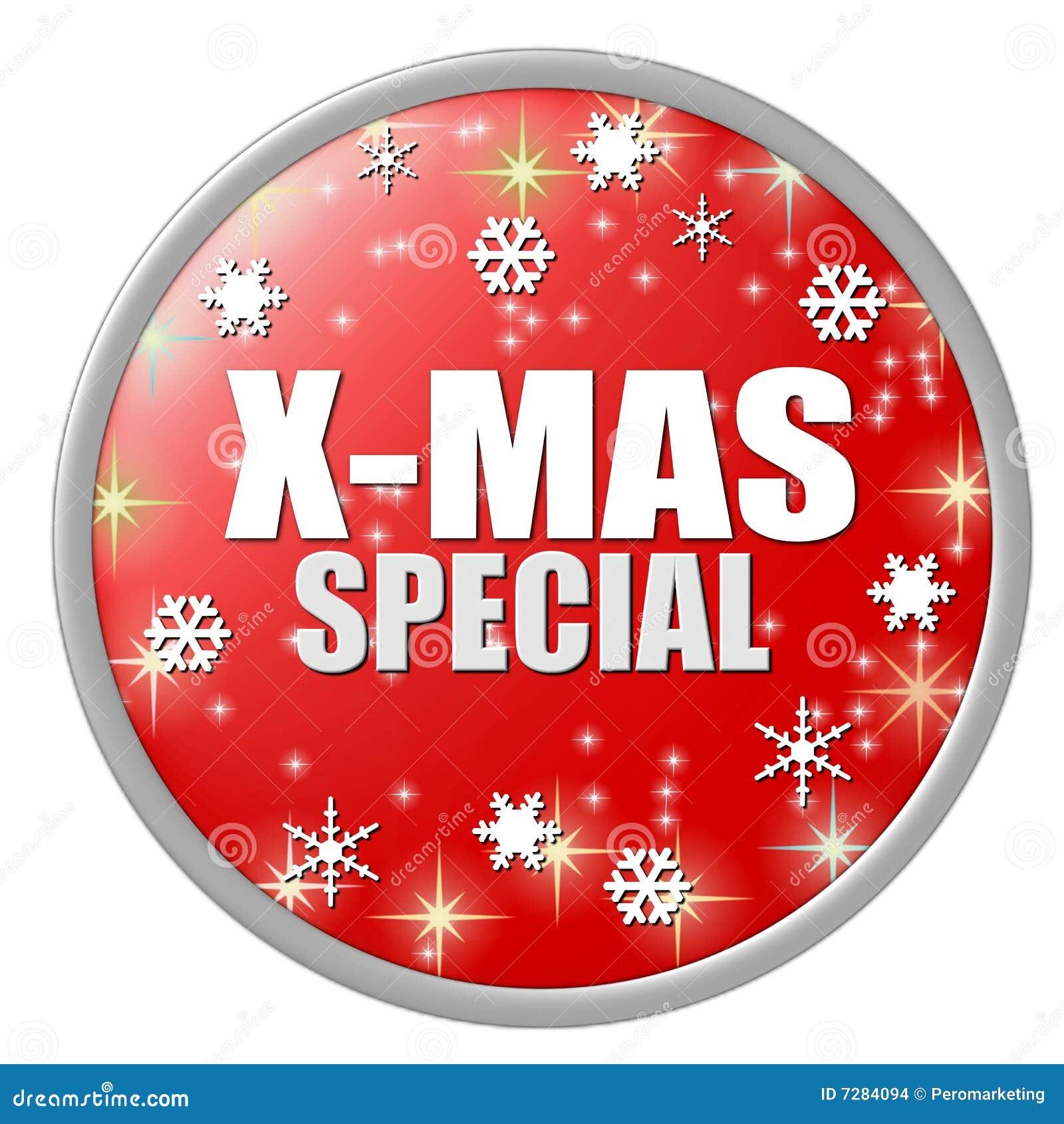 Botón rojo del special de Navidad