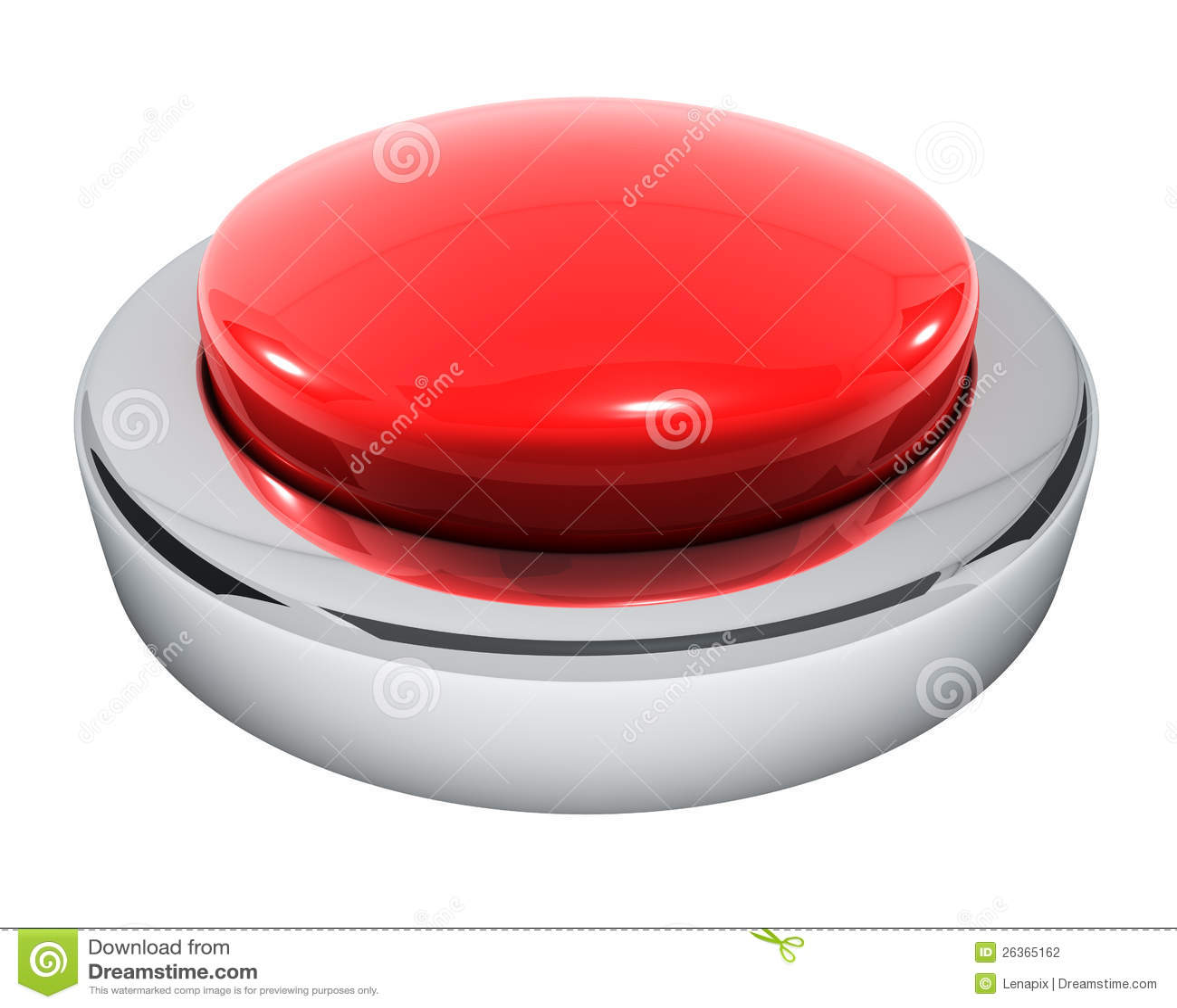 Botón rojo grande