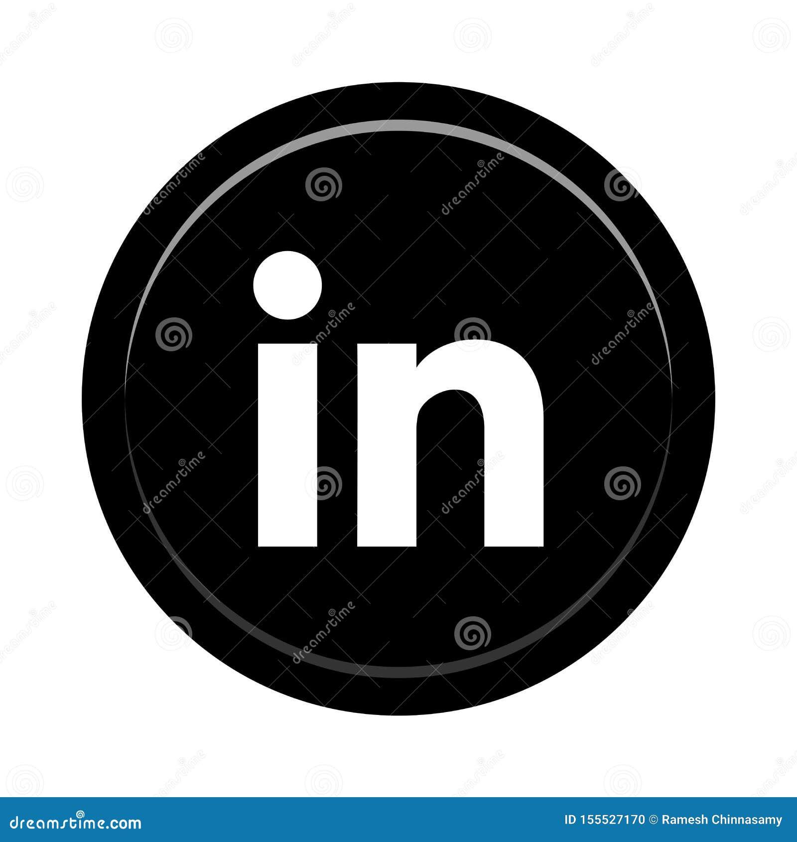 Botón social del icono de los medios de Linkedin