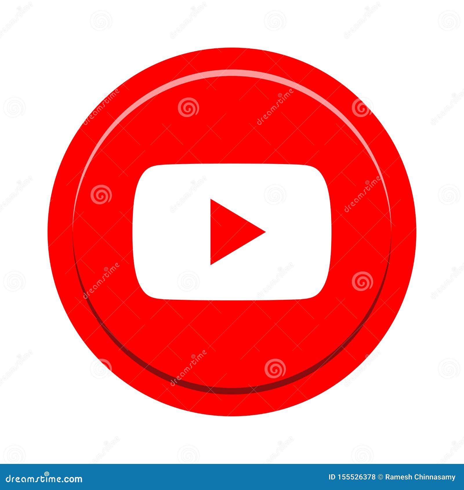 Botón social del icono de los medios de YouTube