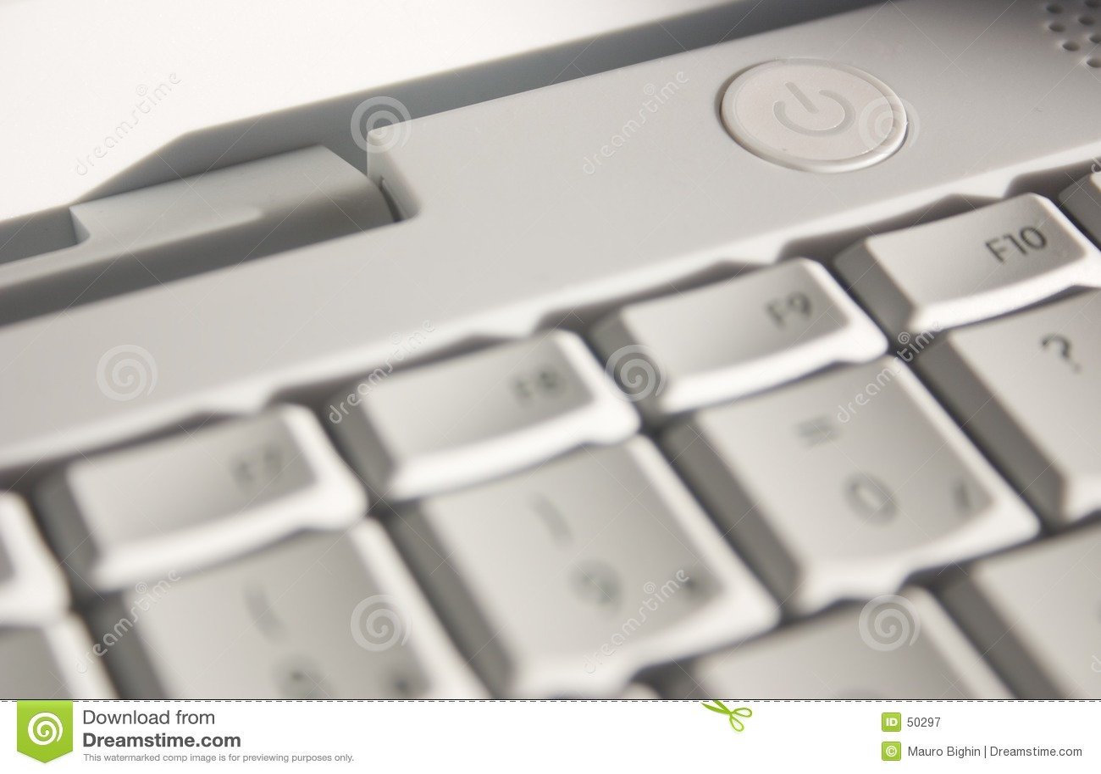 Botón Switch-on del ordenador