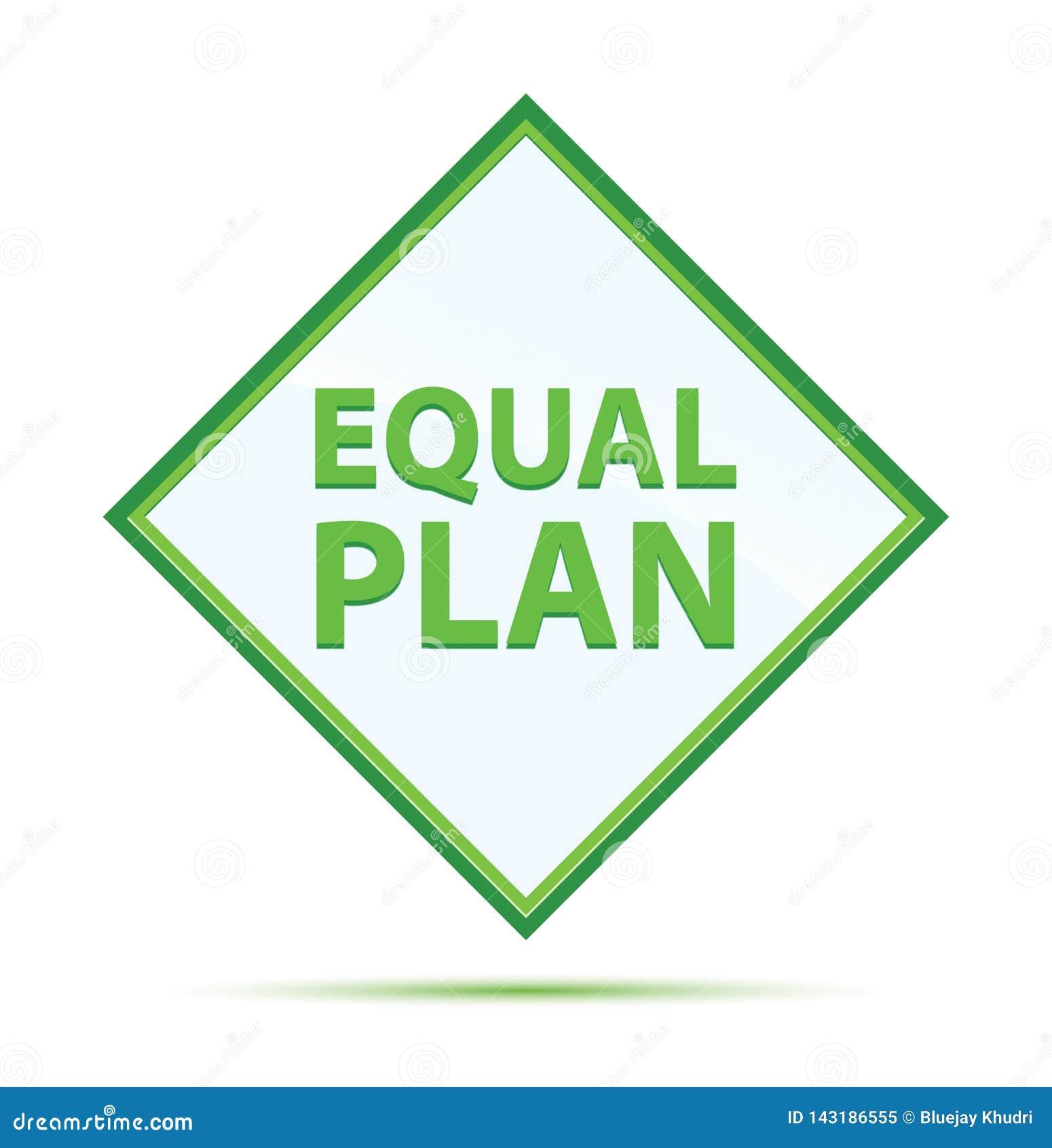 Botón verde abstracto moderno del diamante del plan del igual