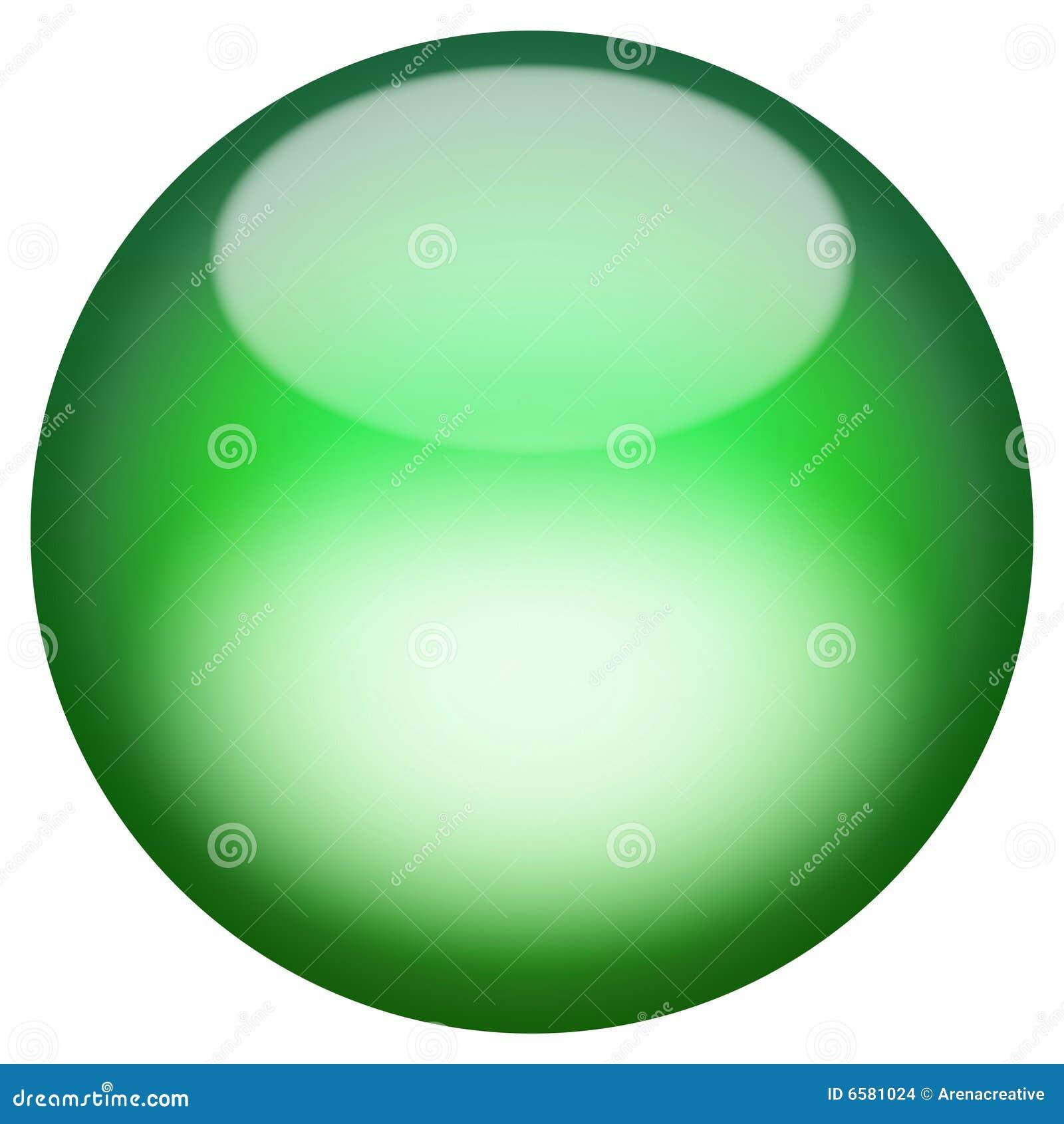 Botón vidrioso 3D