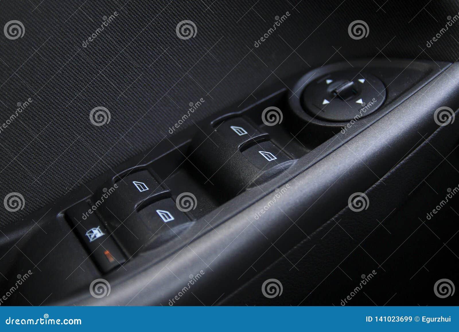 Botões do controle da janela de carro