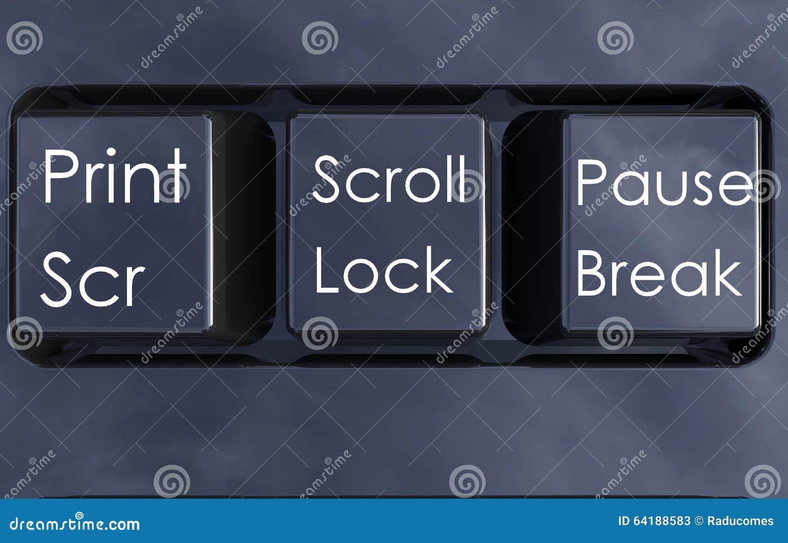 Botões isolados do teclado