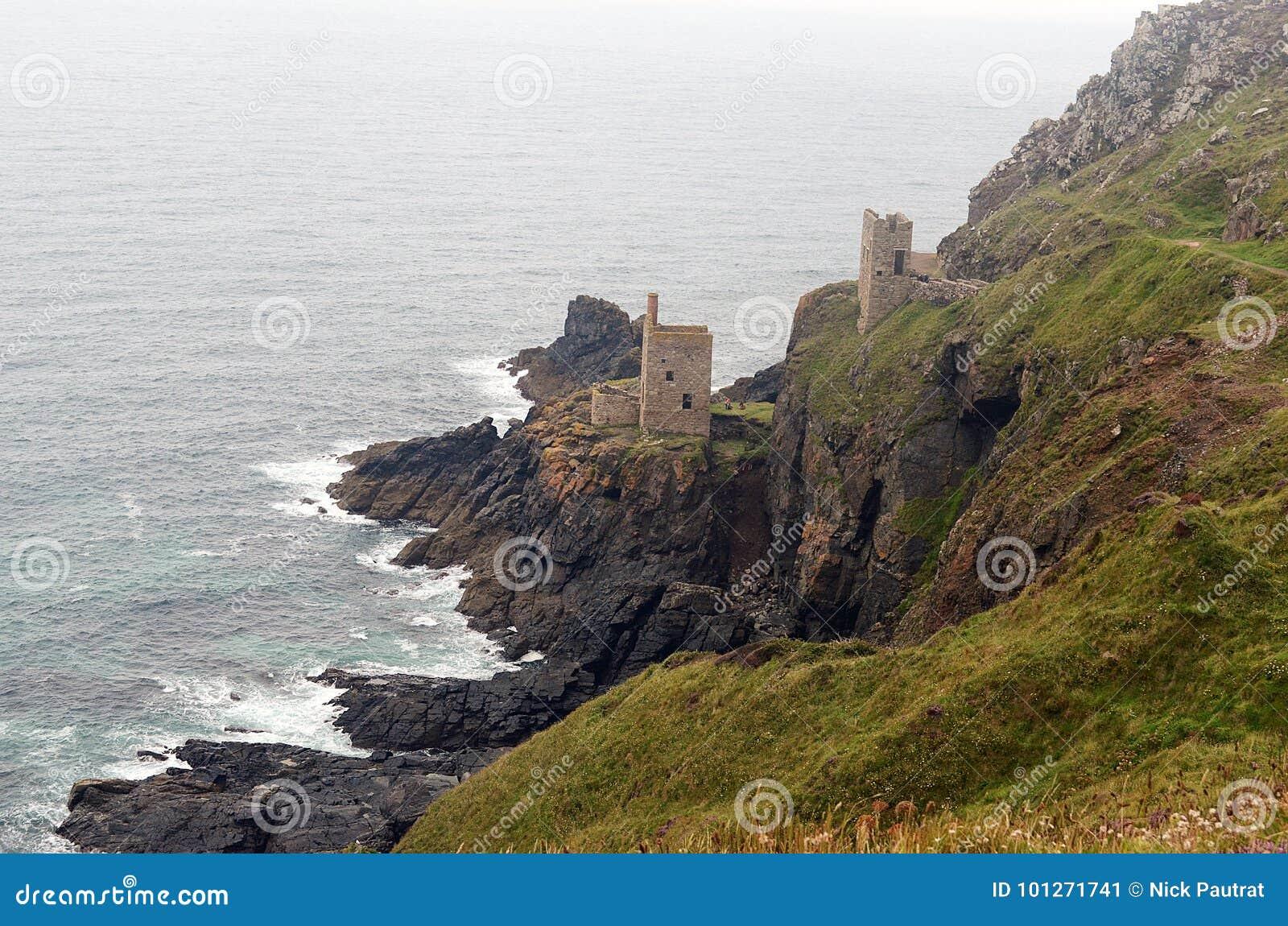 Botallackmijn en kustlijn, St enkel, Cornwall