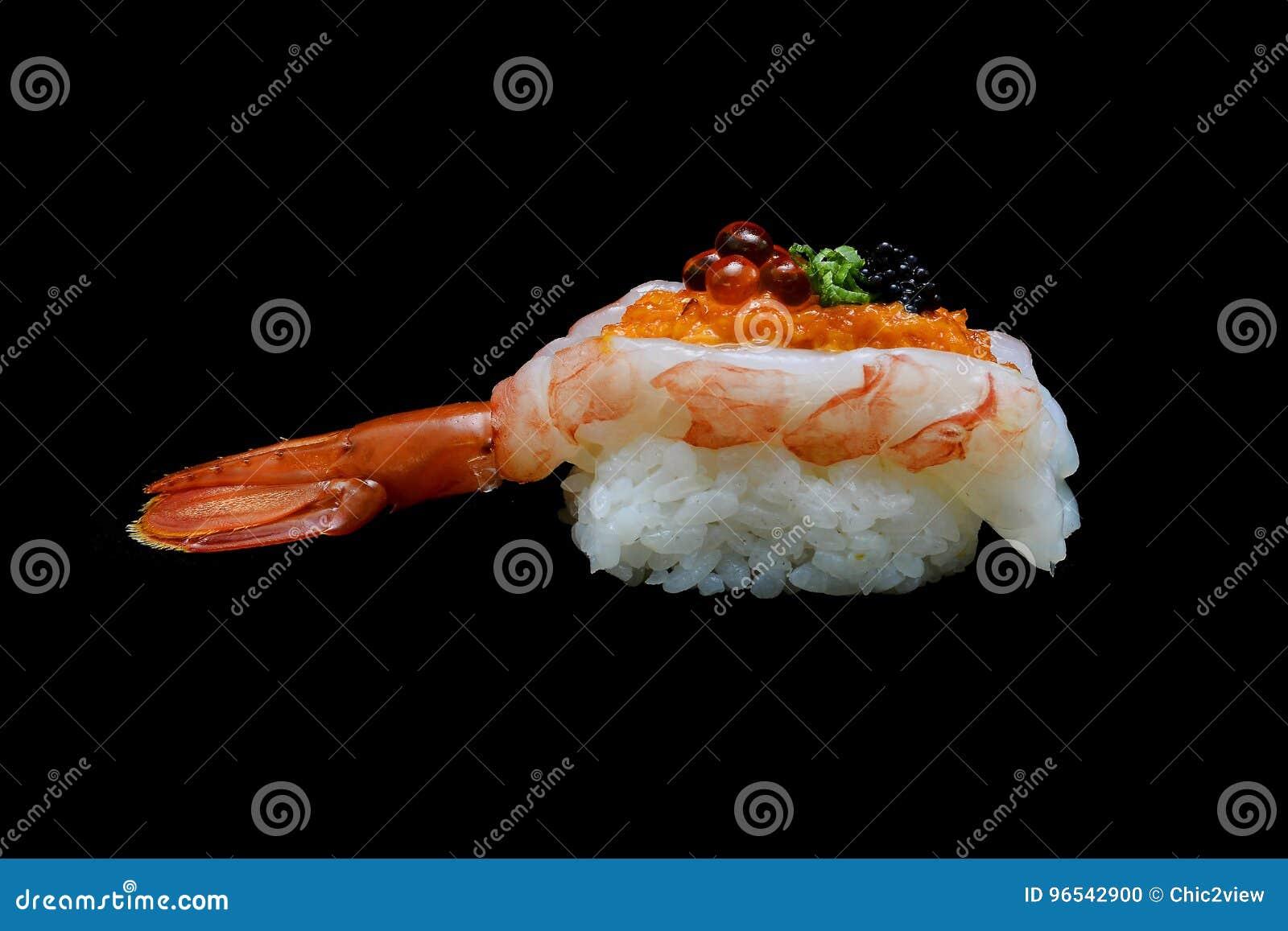 Botan Ebi Sushi Or Spacial Premium King Shrimp Sushi Mixed By Ikura