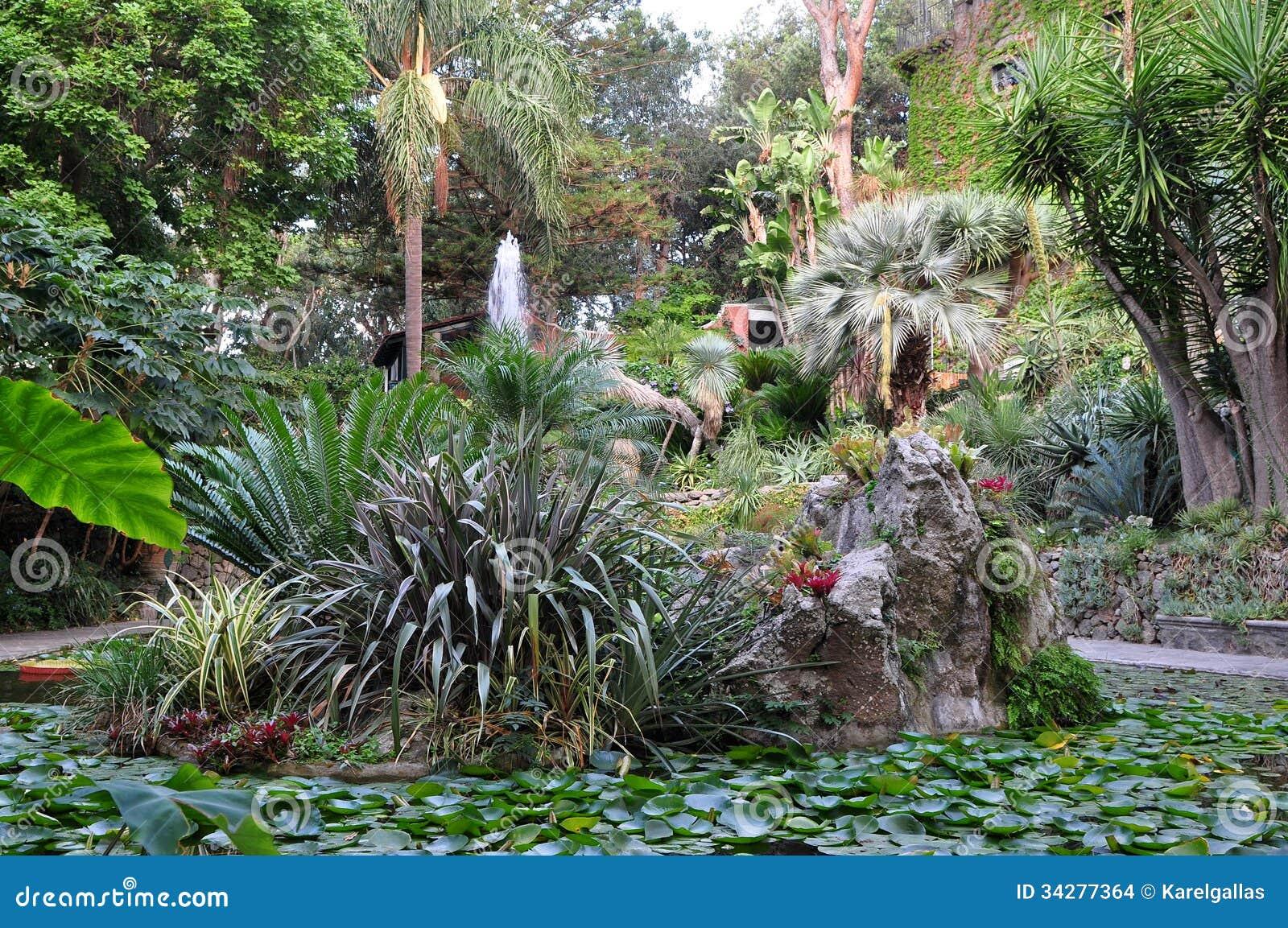 Botanical Garden La Mortella Ischia Italy Stock Photo