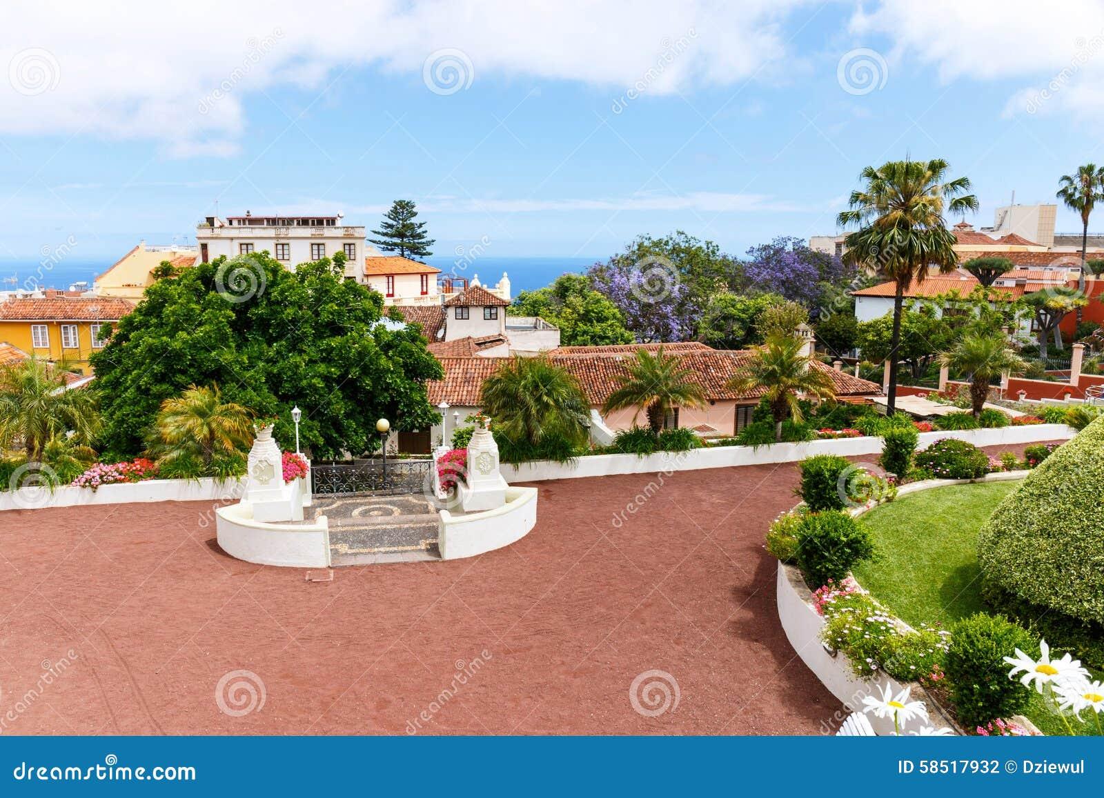 Botanical Garden In La Orotava Town Tenerife Stock Photo